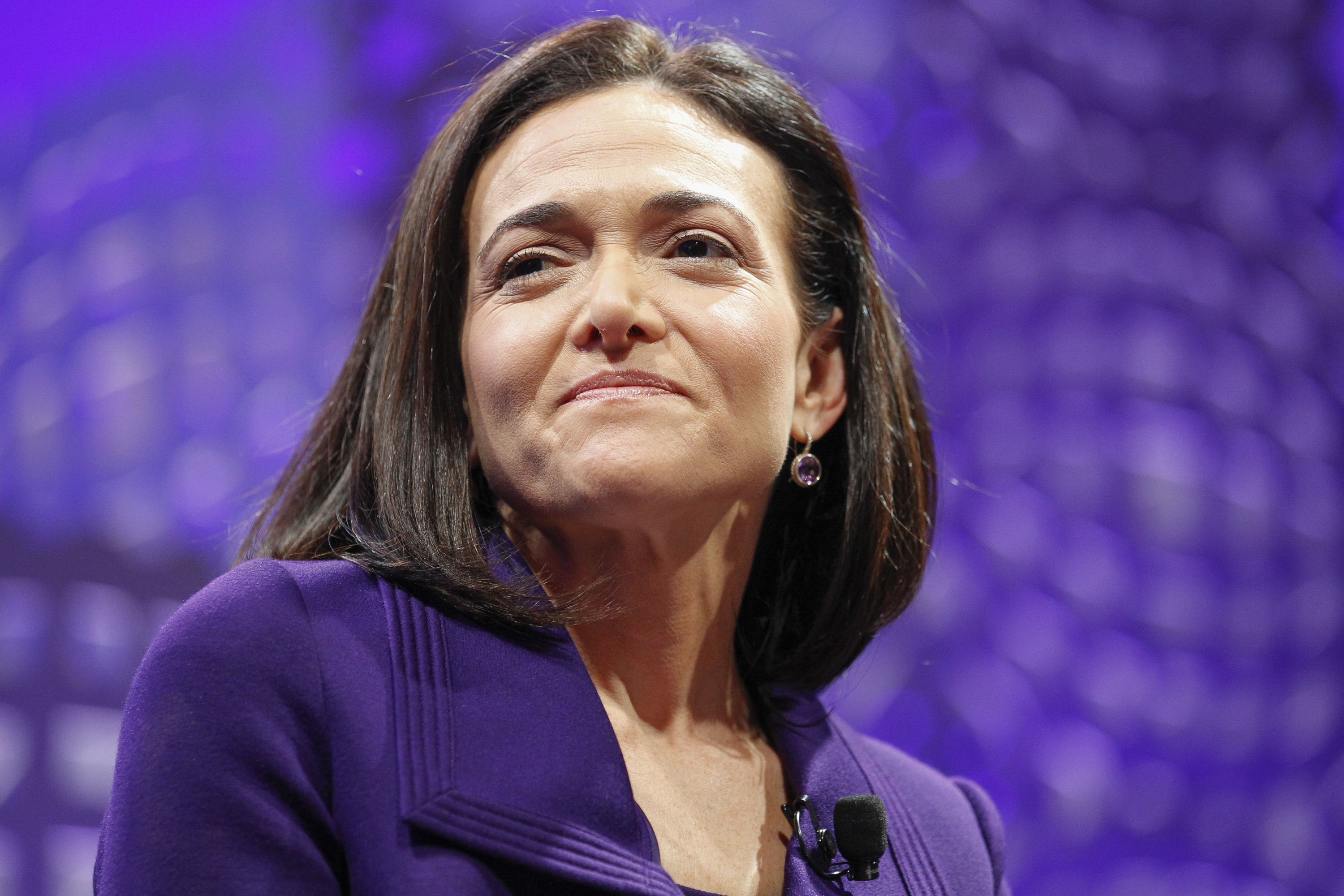 Sheryl Sandberg on a panel at the Fortune Global Forum in San Francisco,  on Nov. 3, 2015.
