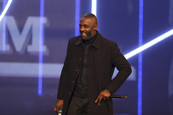 Idris Elba presents the award for Best Album during the MOBO Awards at First Direct Arena on Nov. 4, 2015 in Leeds, England