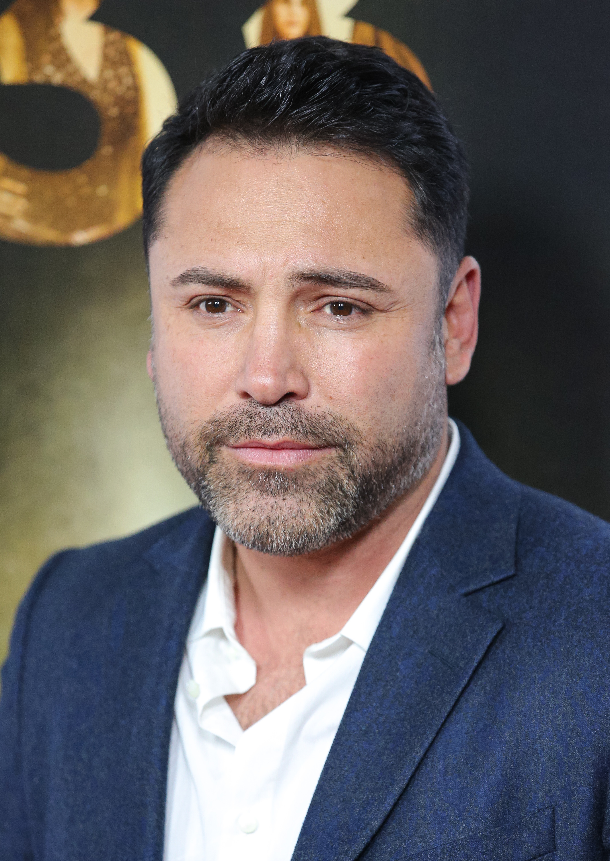 Former professional boxer Oscar De La Hoya attends the Centerpiece Gala premiere of Alcon Entertainment's 'The 33' at TCL Chinese Theatre on November 9, 2015 in Hollywood, California.