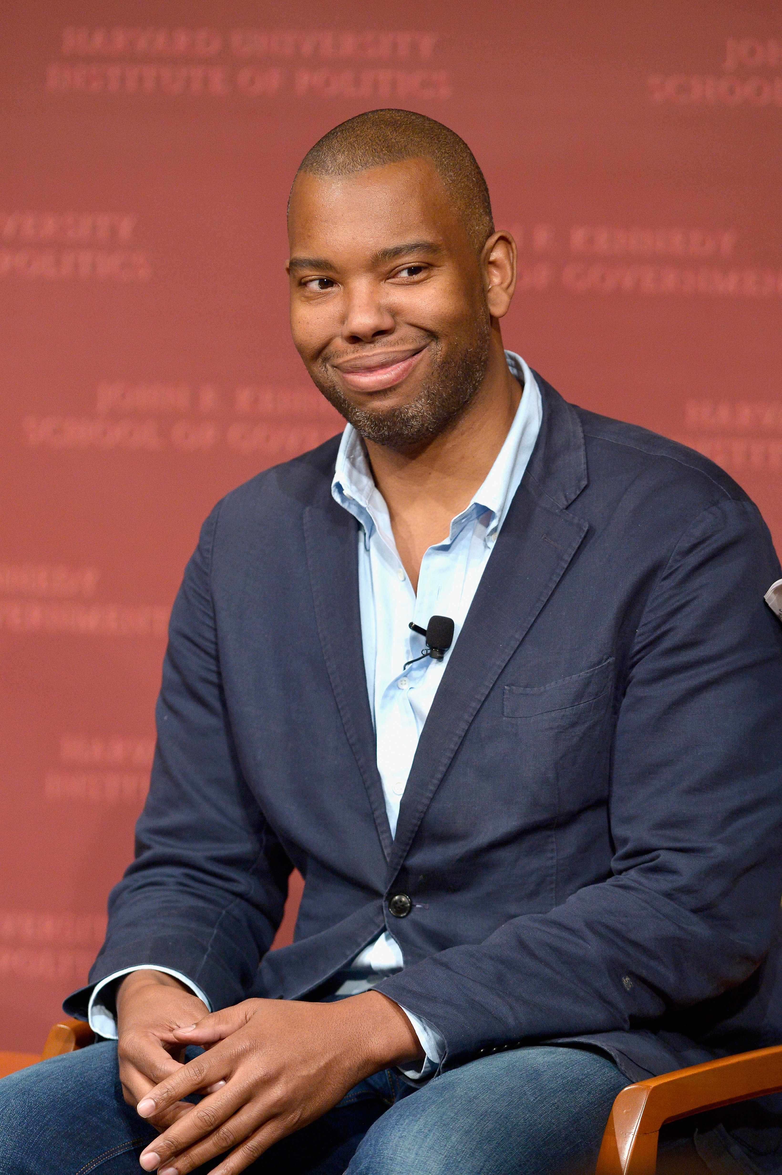Author Ta-Nehisi Coates speaks at the Harvard University John F. Kennedy School of Government in Cambridge, Mass. on Nov. 11, 2015.