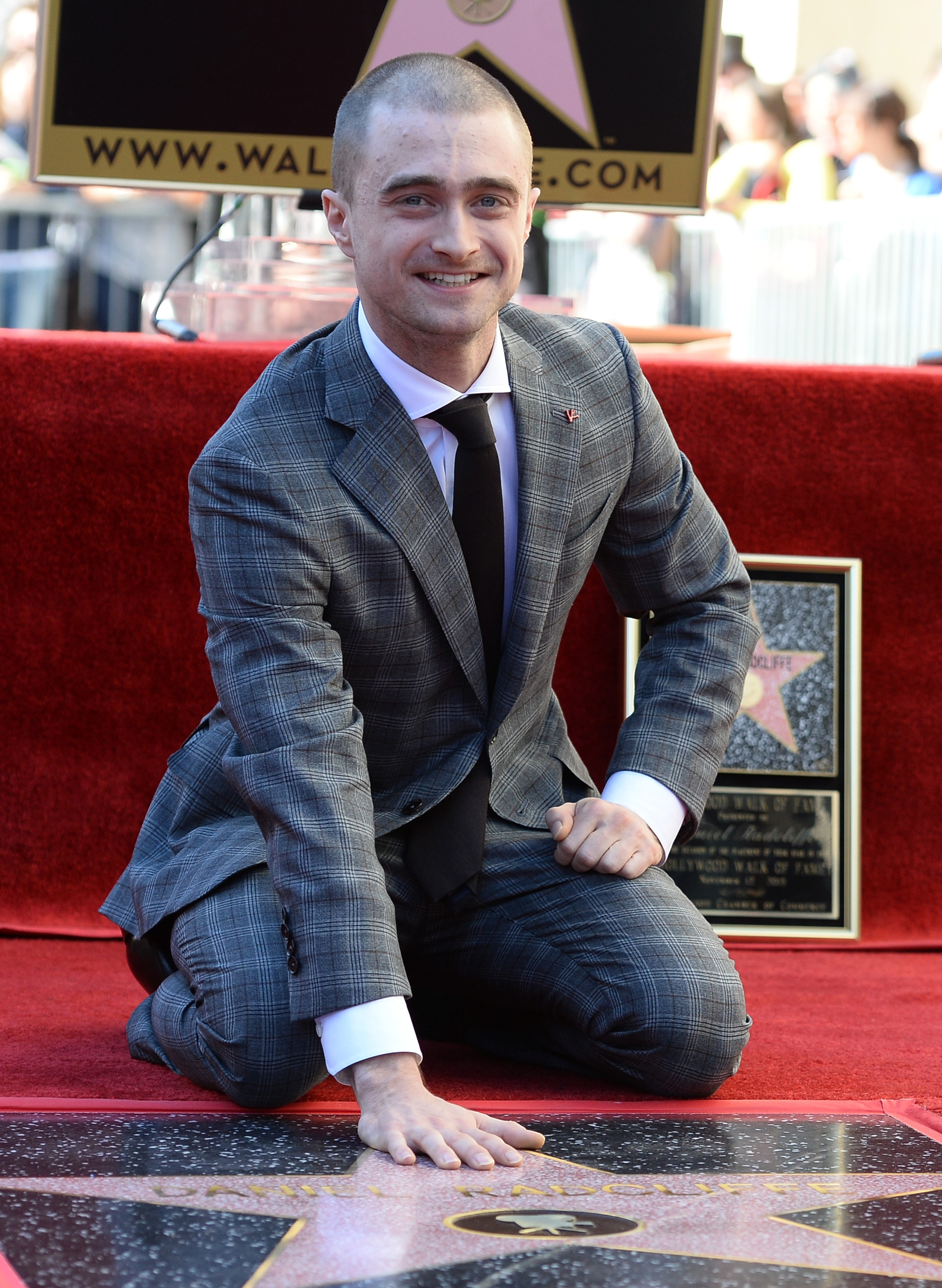Actor Daniel Radcliffe is honored with a star on The Hollywood Walk of Fame on November 12, 2015 in Hollywood, California.