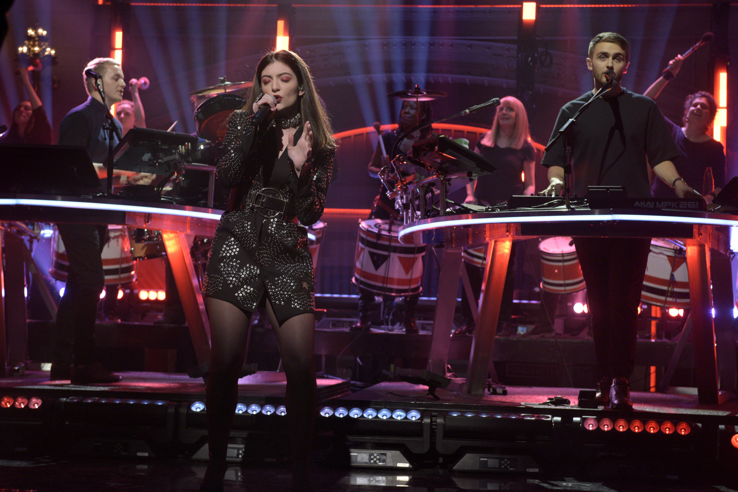 Musical guest Disclosure performs with Lorde on November 14, 2015