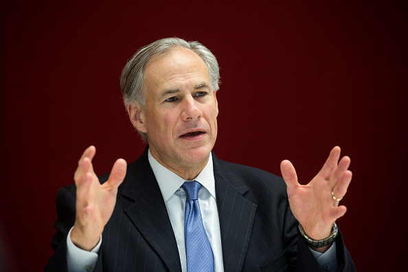 Greg Abbott, governor of Texas, speaks during an interview in New York City on July 14, 2015