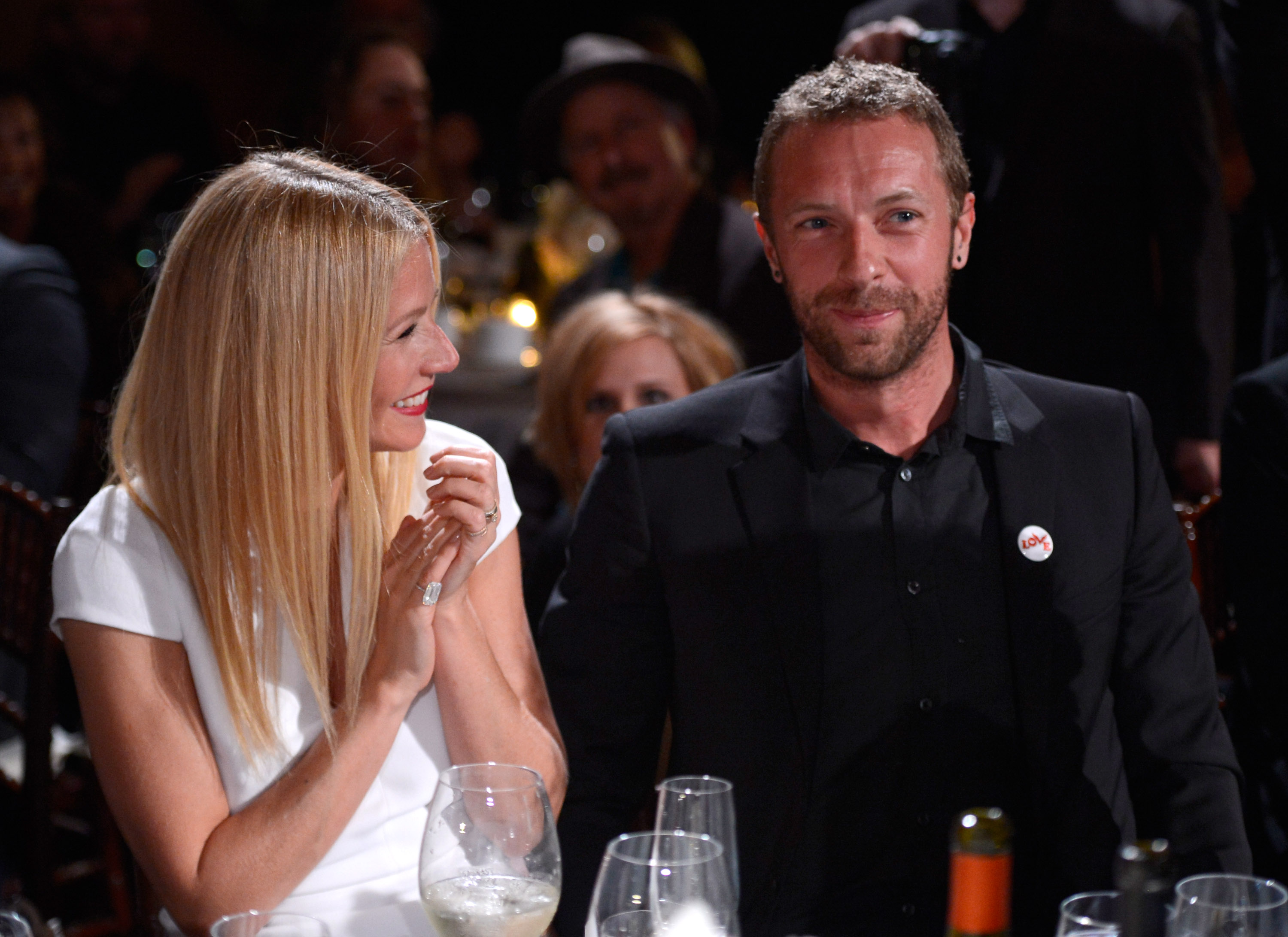 Gwyneth Paltrow and Chris Martin at Montage Beverly Hills on January 11, 2014 in Beverly Hills, California.