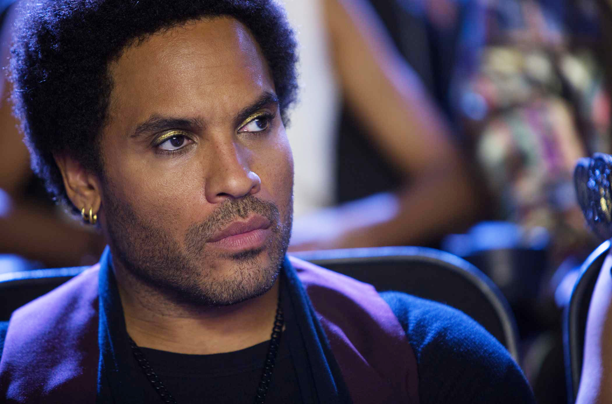 Lenny Kravitz as Cinna in The Hunger Games: Catching Fire, 2013.