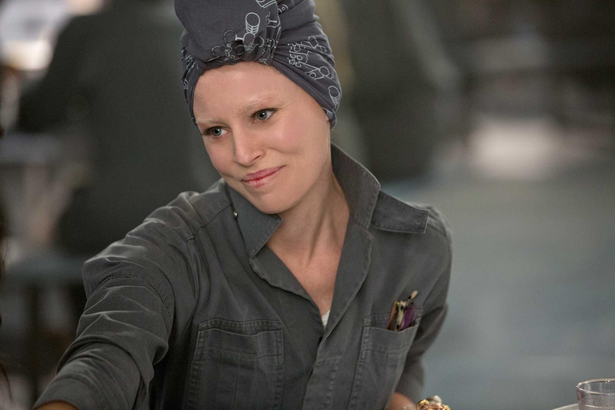 Elizabeth Banks as Effie Trinket in The Hunger Games: Mockingjay – Part 1, 2014.