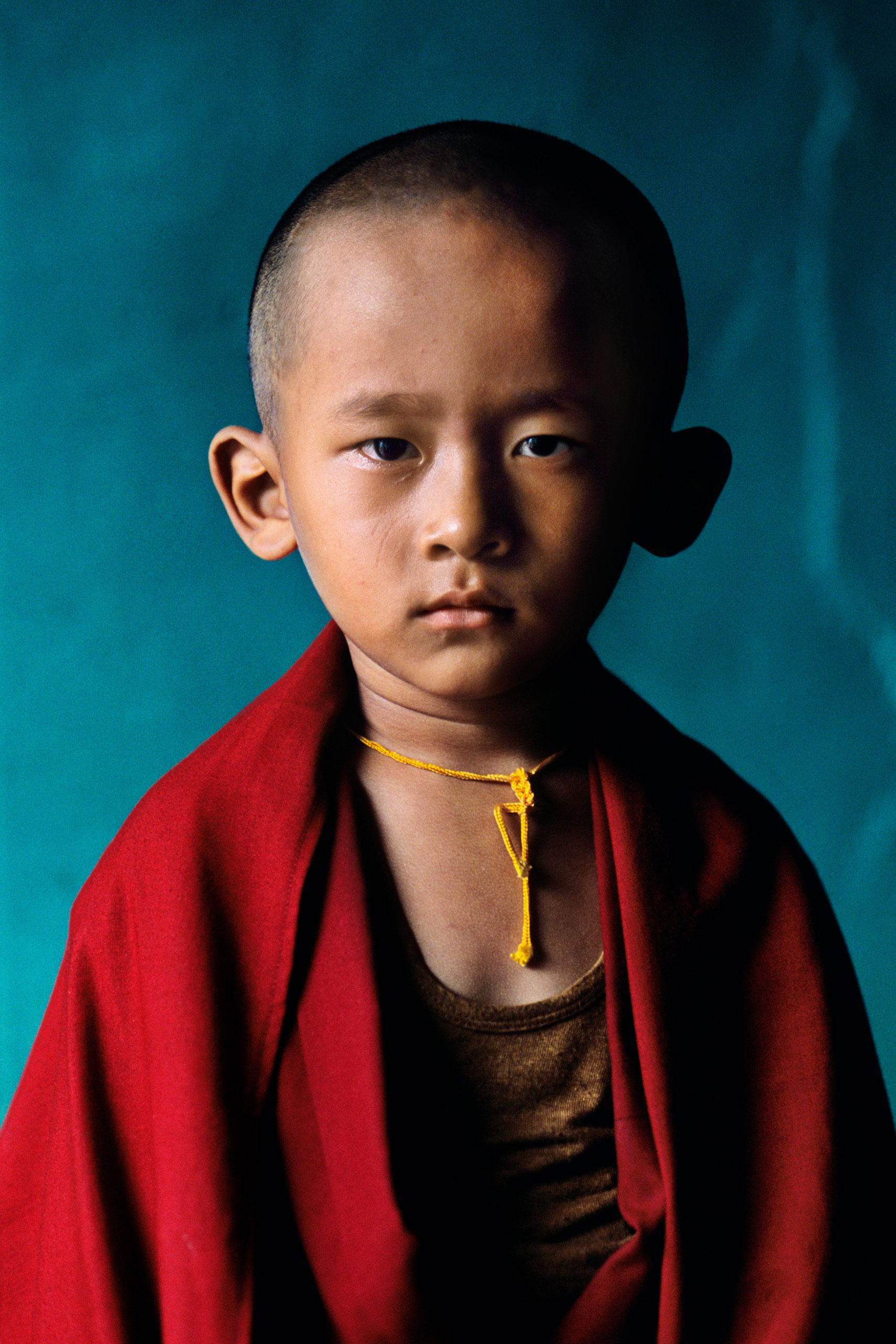 Young Rinpoche (meaning 'precious one'),Sakya monastery.                               Bylakuppe, Karnataka, 2001