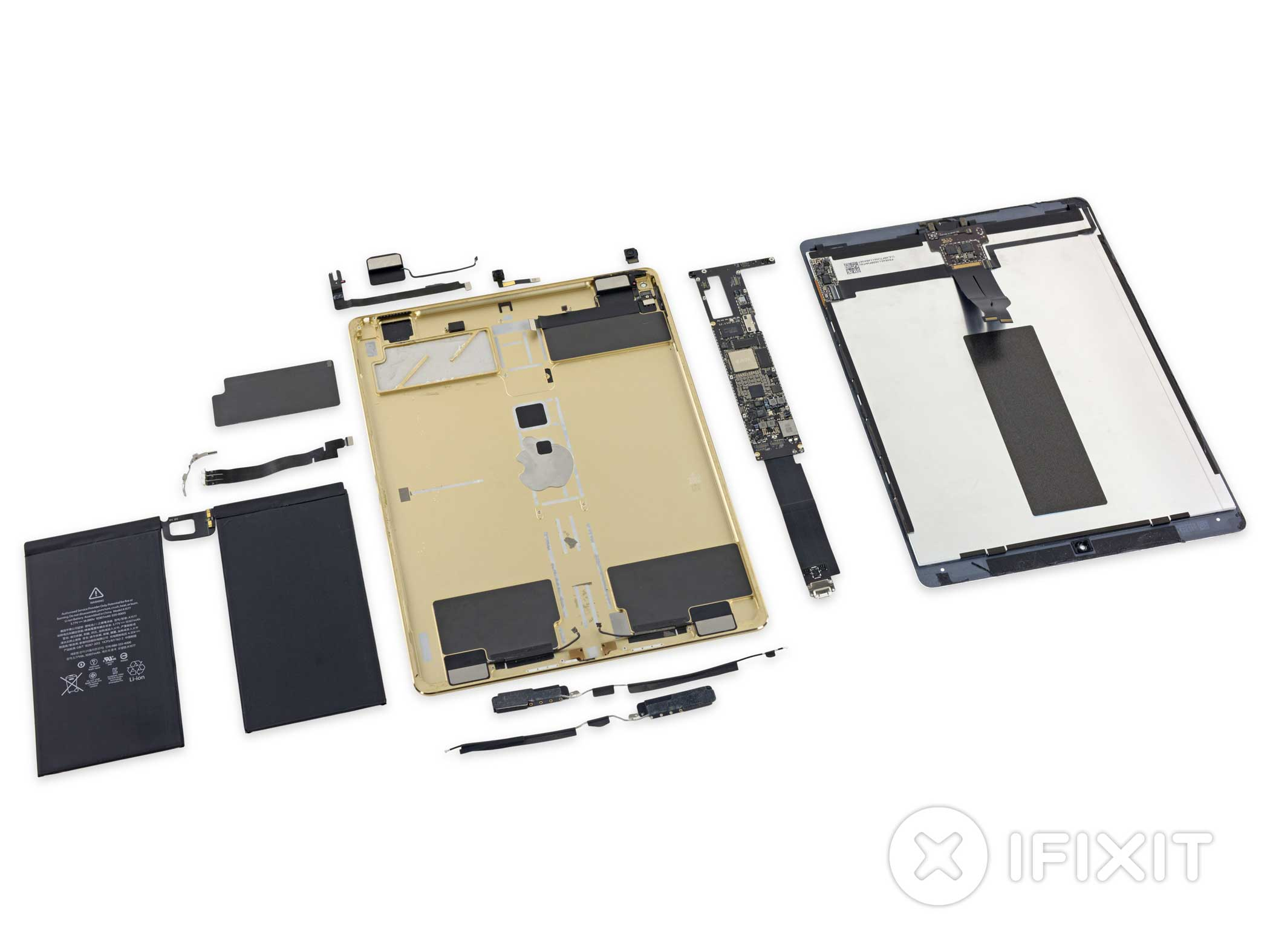 The iPad Pro is tough to repair. The iFixit team gave it a three out of 10 repairability score, since  the adhesive holding everything in place makes it hard to fix.