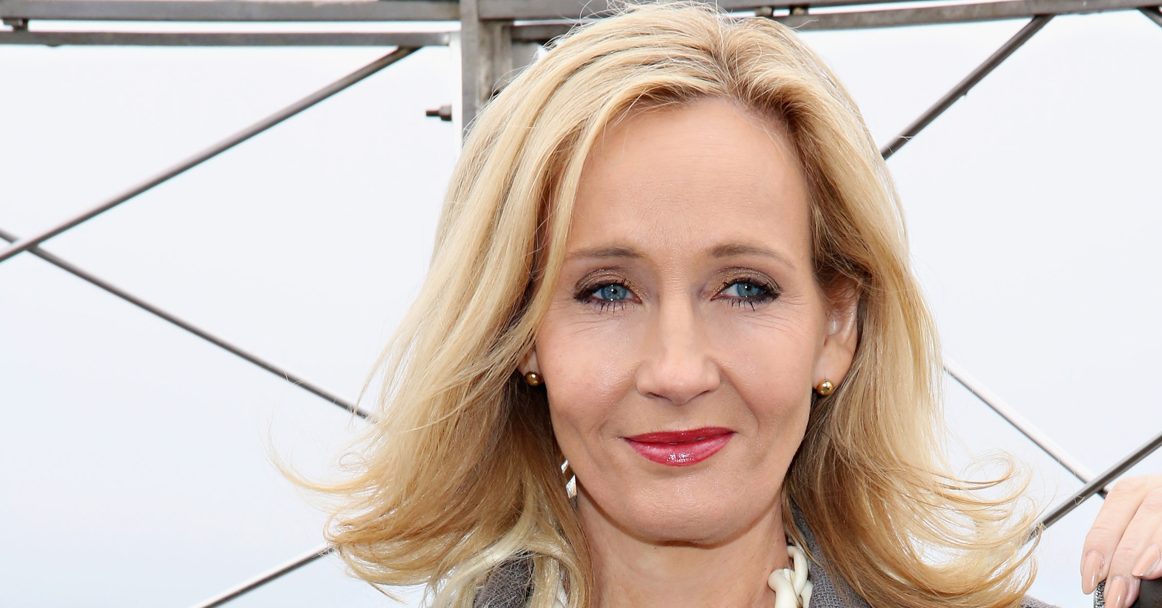 Author J.K. Rowling visits the Empire State Building in on April 9, 2015 in New York.