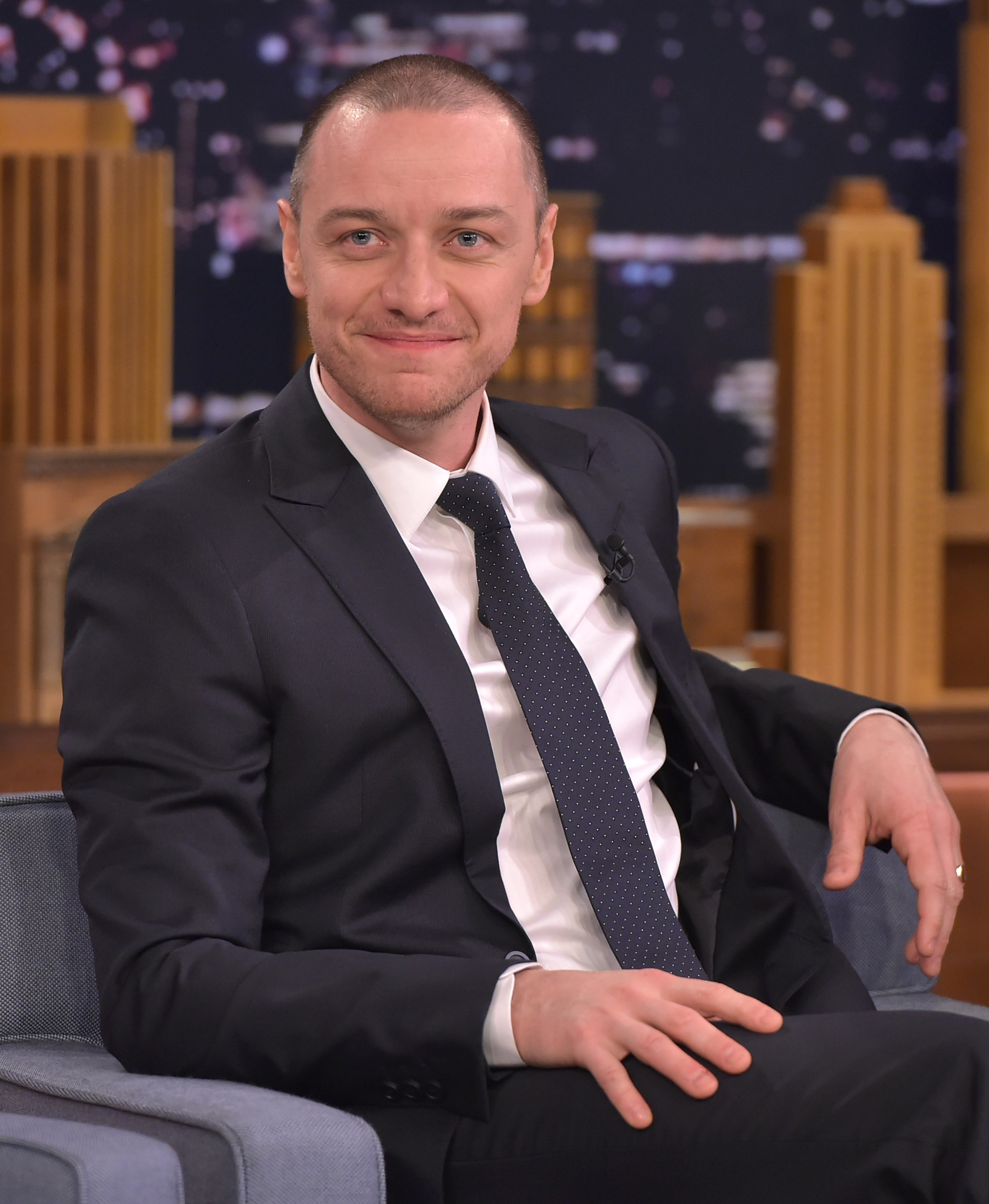 James McAvoy visits The Tonight Show Starring Jimmy Fallon at Rockefeller Center on Nov. 11, 2015 in New York City.