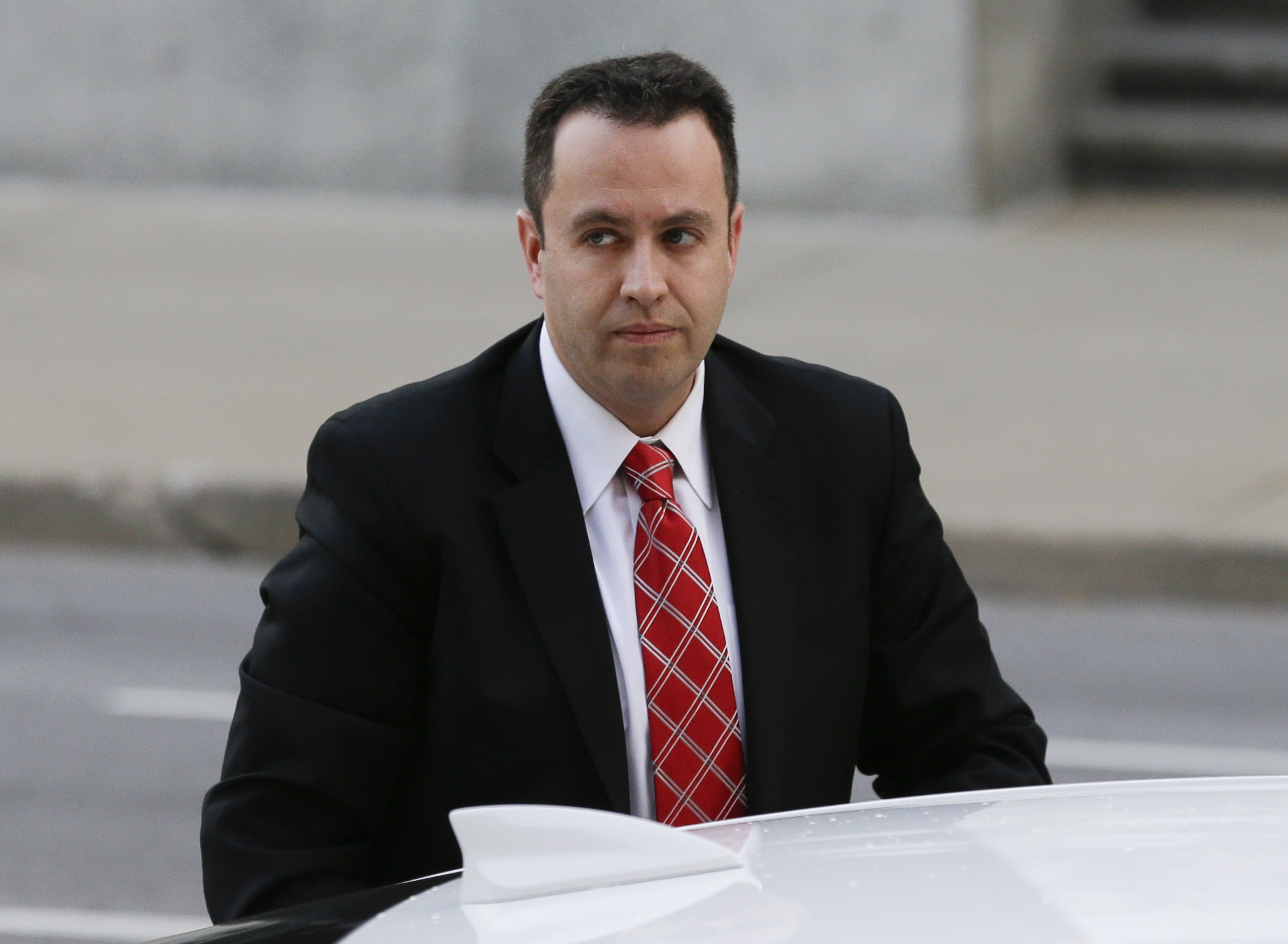 Former Subway pitchman Jared Fogle arrives at the federal courthouse in Indianapolis on Nov. 19, 2015.