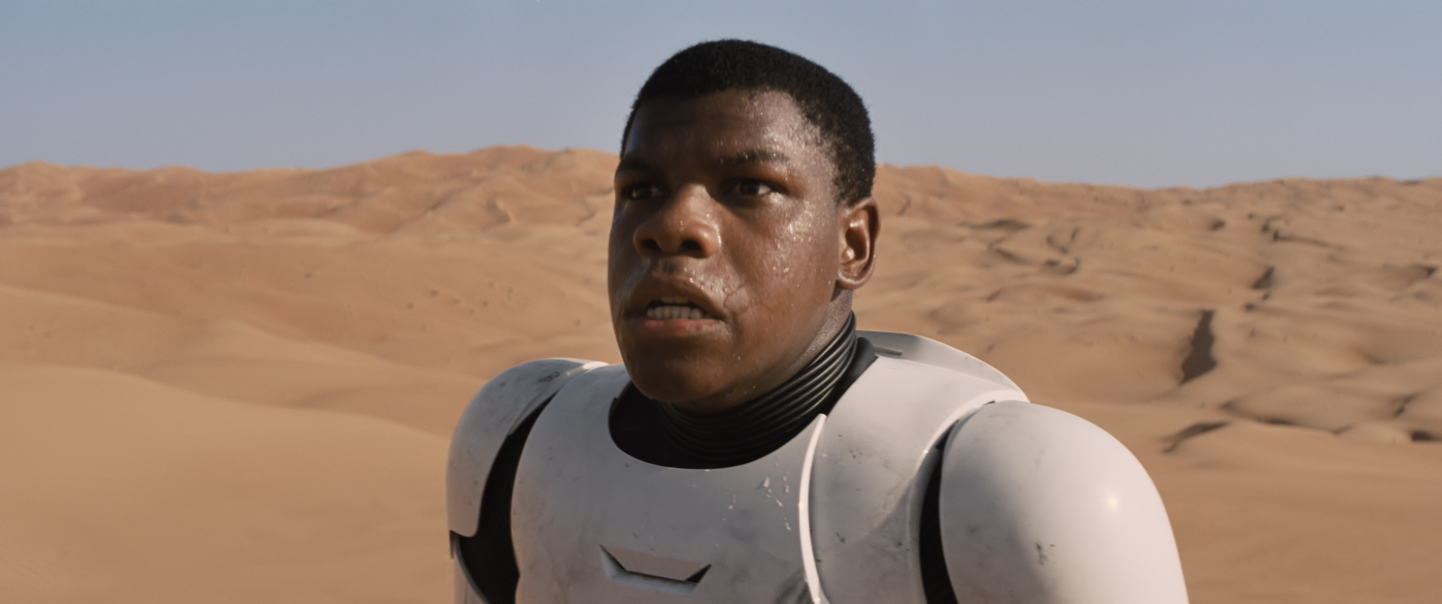 John Boyega portrays a stormtrooper in the new Star Wars movie.