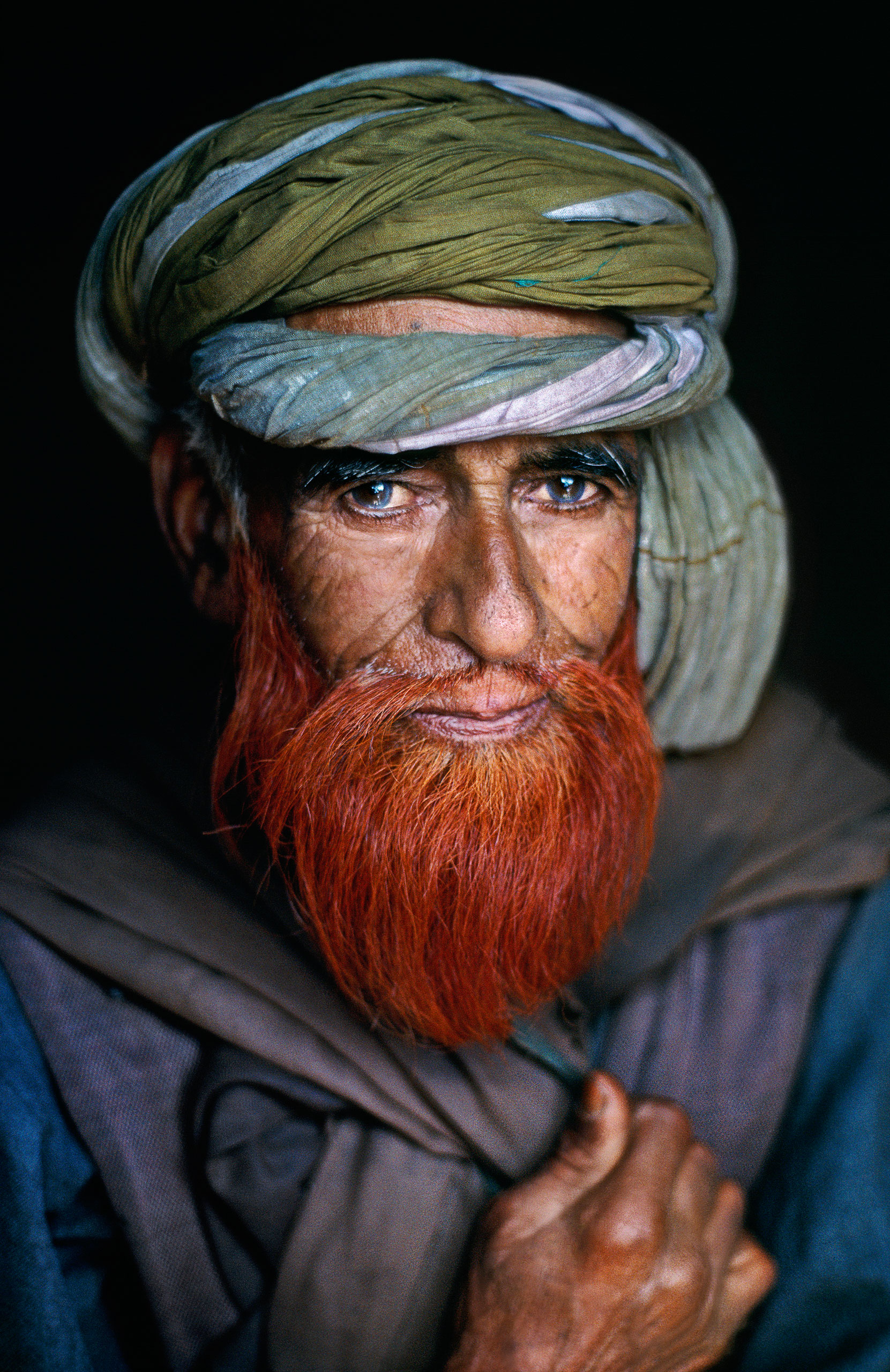 Man with a henna beard. Srinagar, Kashmir, 1995