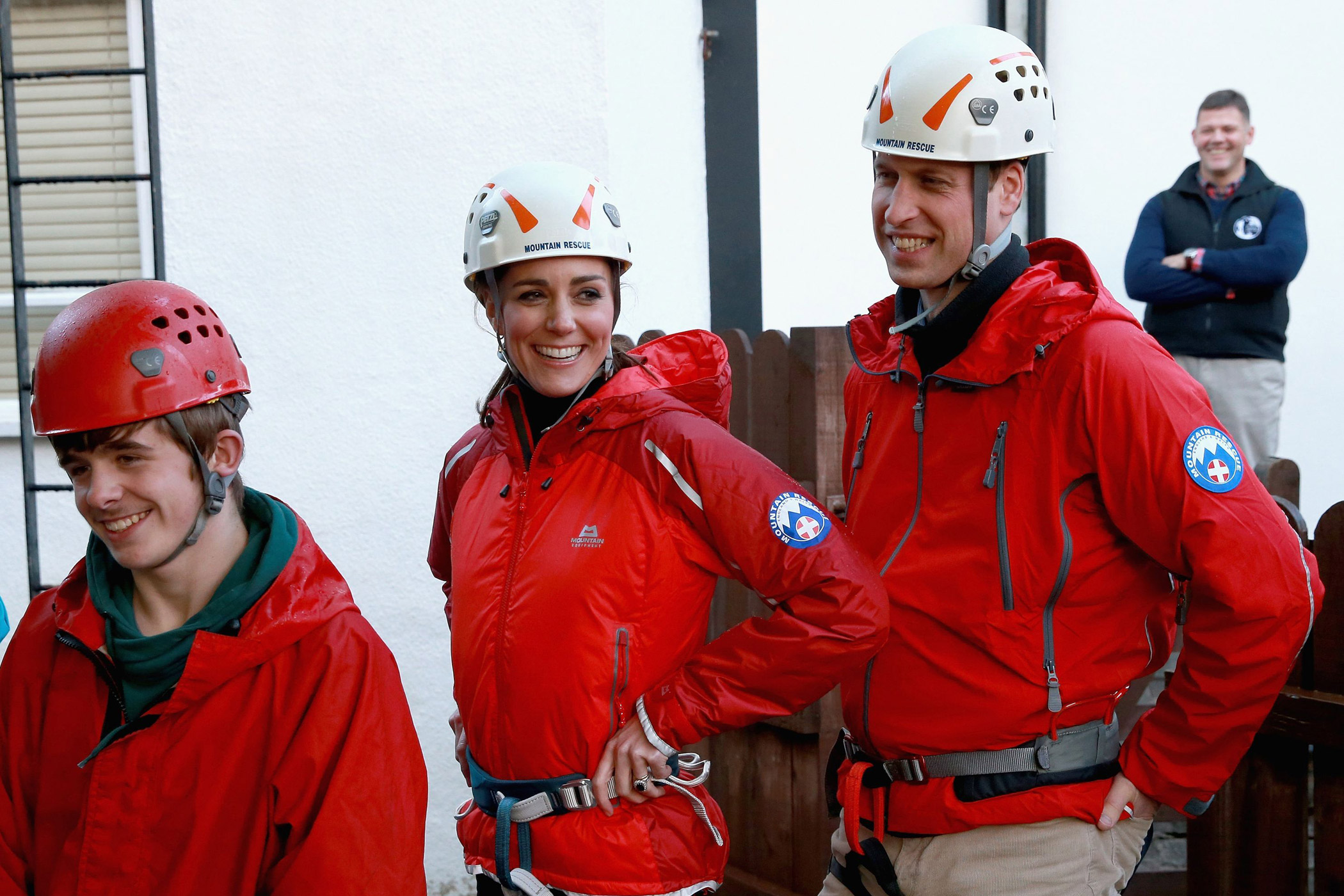 Brtitan's Prince William and Princess Kate, the Duke and Duchess of Cambridge, tour the Towers Residential Outdoor Education Centre in Capel Curig during a royal visit to North Wales on Friday Nov. 20, 2015. The Towers is an outdoor education center providing adventure activities for children.