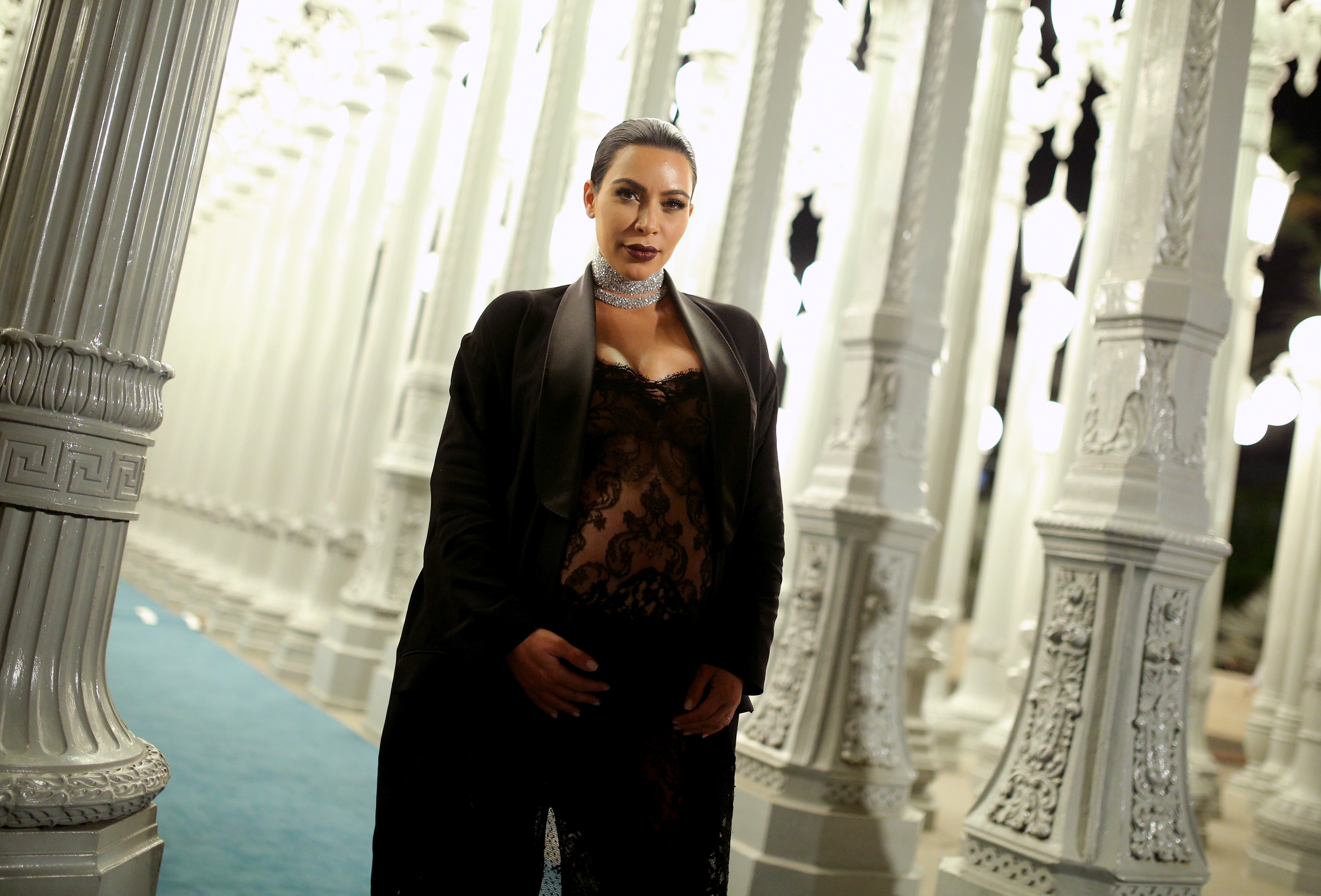 Kim Kardashian West attends LACMA 2015 Art+Film Gala  at LACMA on November 7, 2015 in Los Angeles, California.