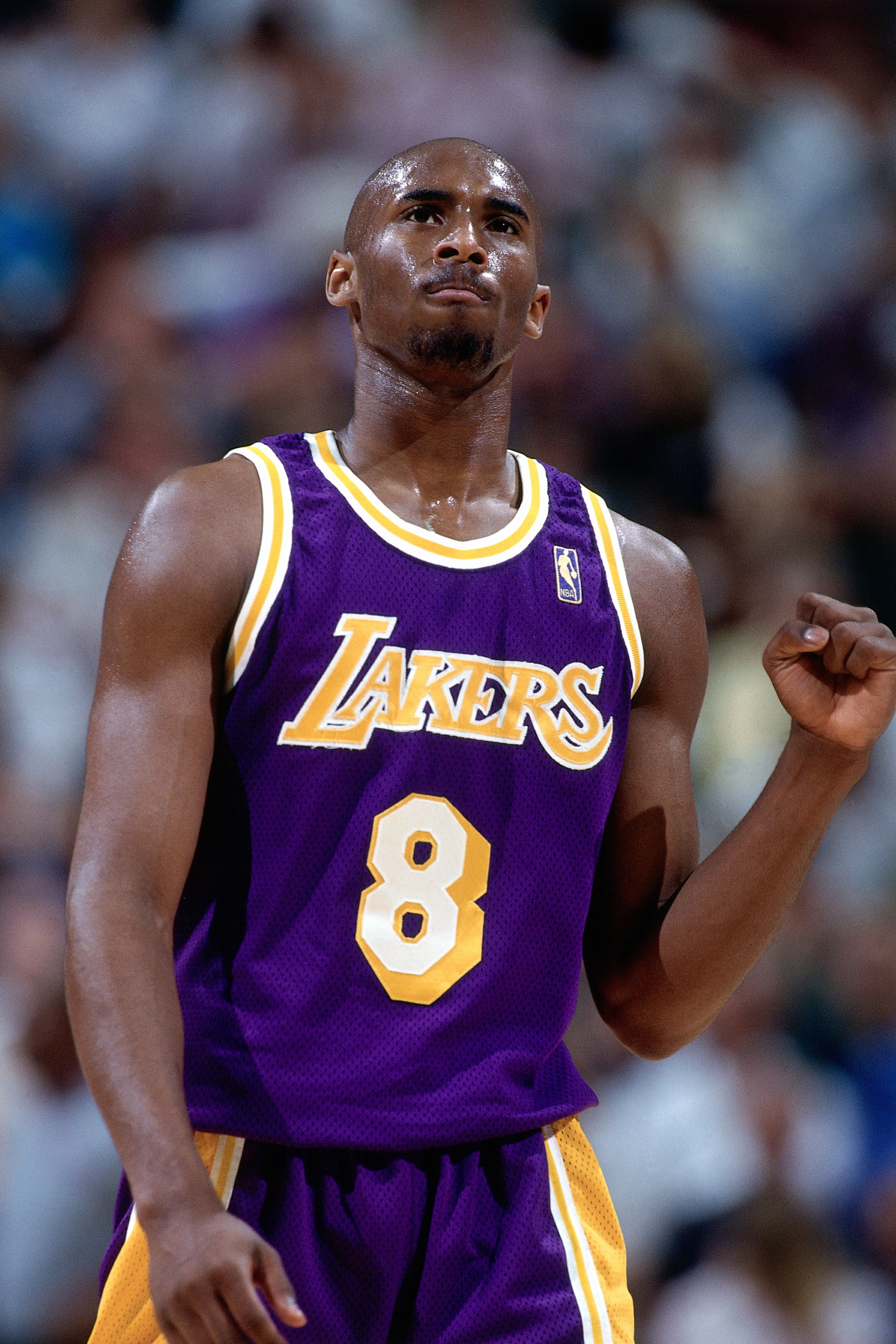 Bryant's first big test came against the Utah Jazz in Salt Lake City on May 12,1997. Faced with a must-win fifth game in Round 2 of the Western Conference Playoffs, the young rookie  airballed  four crucial shots — including a game-winner in the fourth quarter and three three-pointers in overtime — as the Lakers were knocked out.