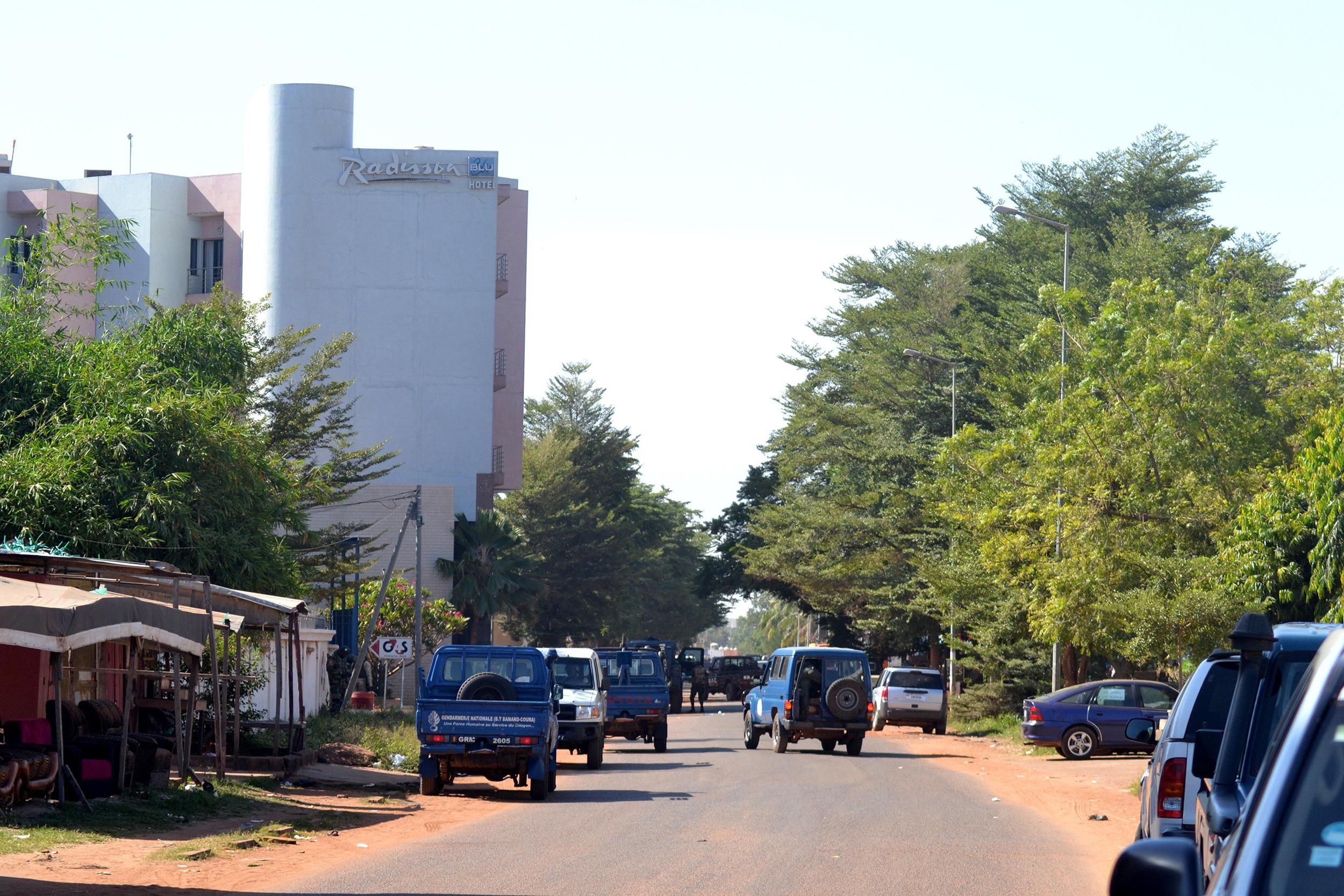 The Radisson Blu Hotel in Mali's capital Bamako on Nov 20, 2015.
