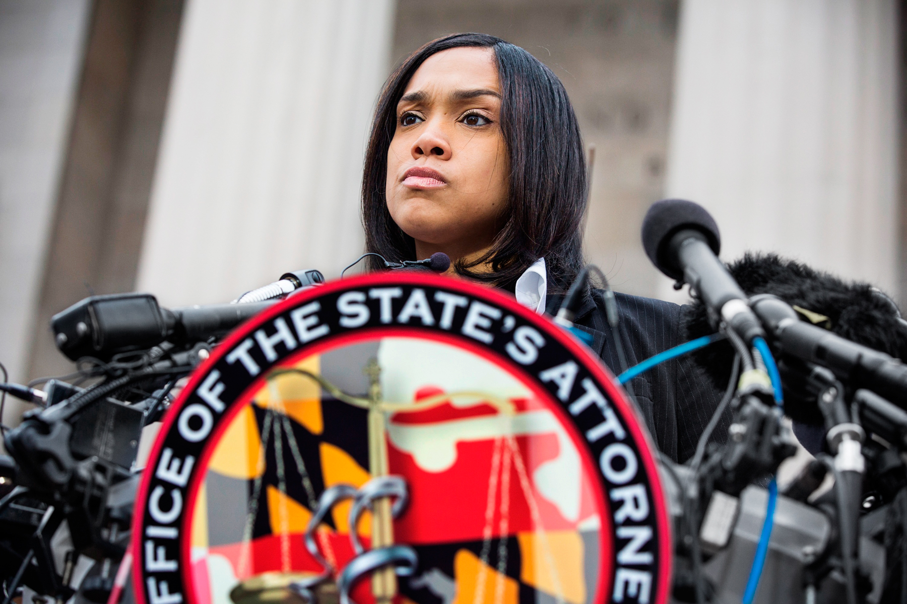 Mosby announces charges against six police officers on May 1