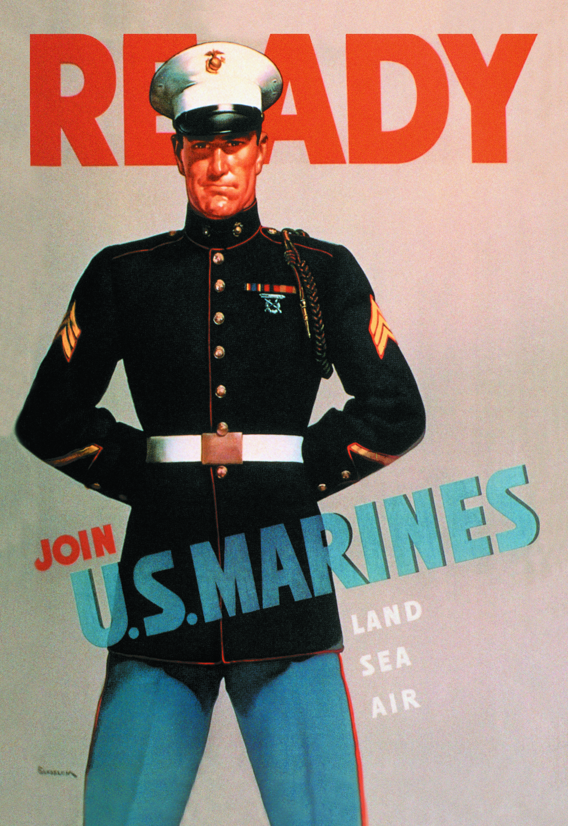 20th century  U.S. Marines recruitment poster
