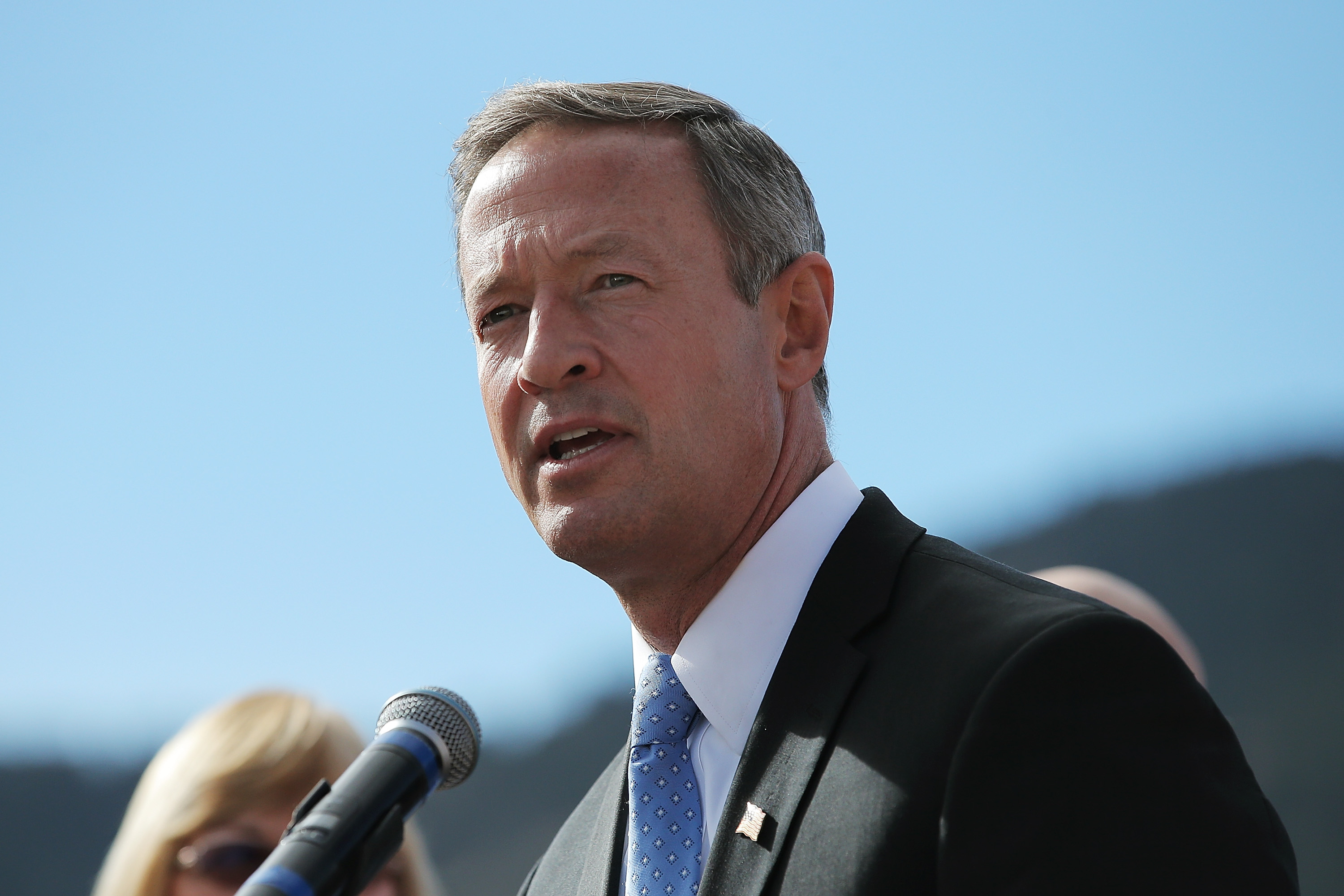 Martin O'Malley speaks hours before a Republican presidential debate in Boulder, Colo., on Oct. 28, 2015