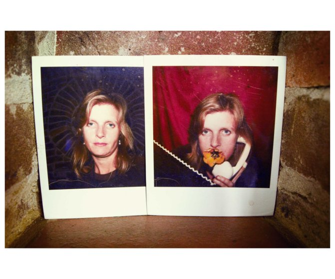Linda in Polaroids, Sussex, 2011