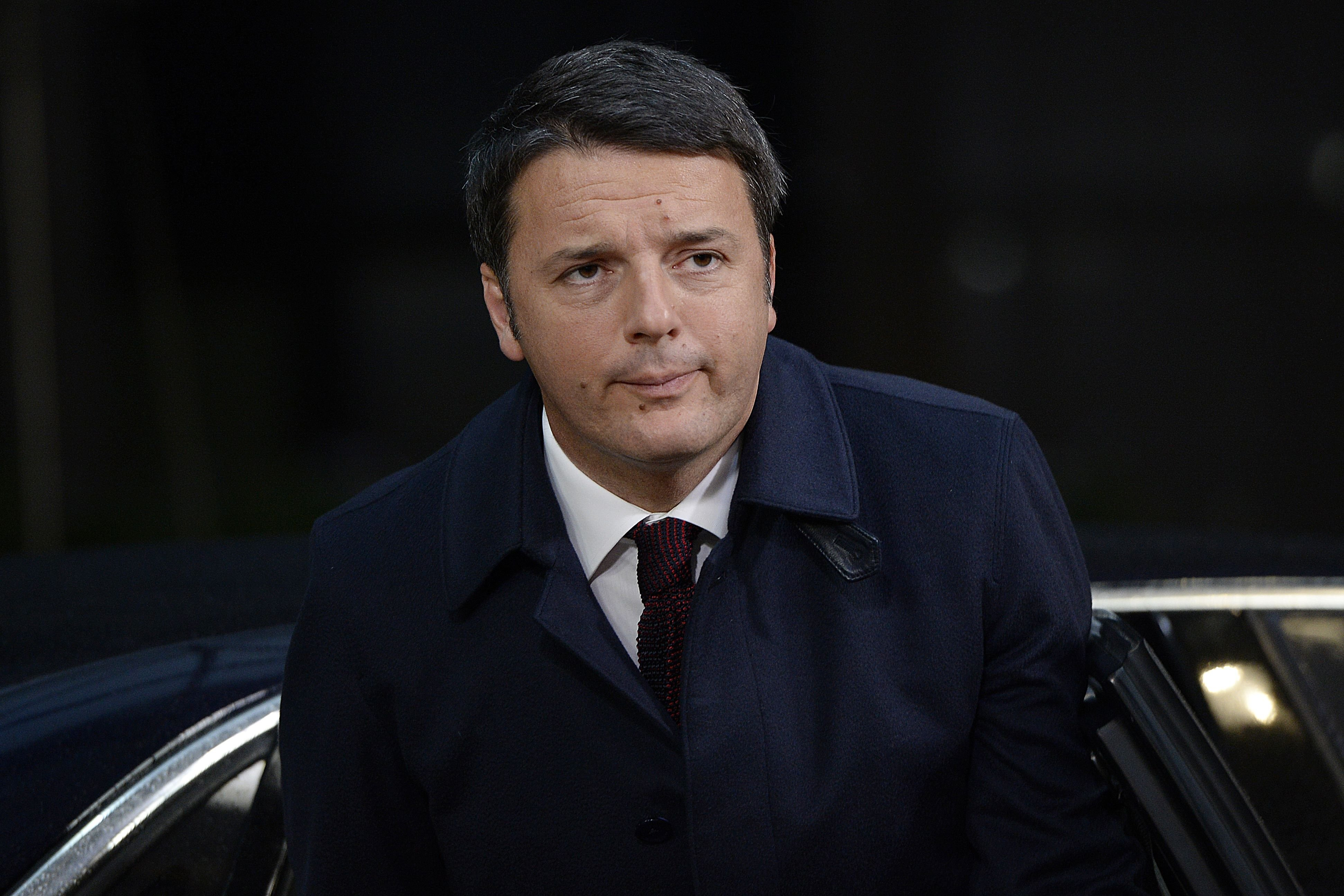Italy's Prime minister Matteo Renzi at the EU headquarters in Brussels on Nov. 29, 2015.