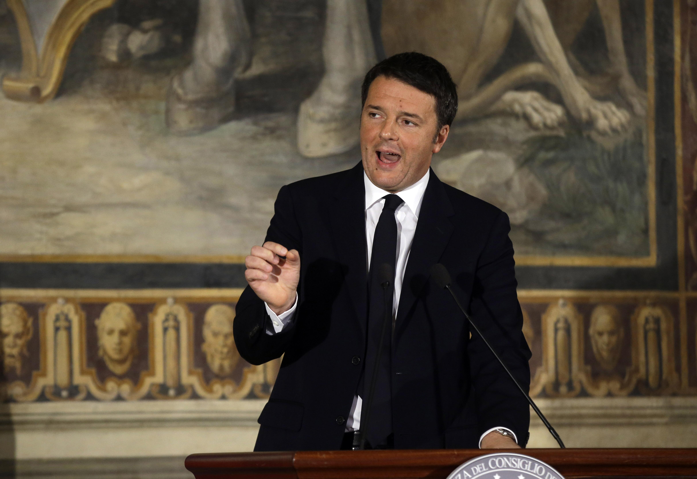 Italian Premier Matteo Renzi speaks in Rome on Nov. 24, 2015.