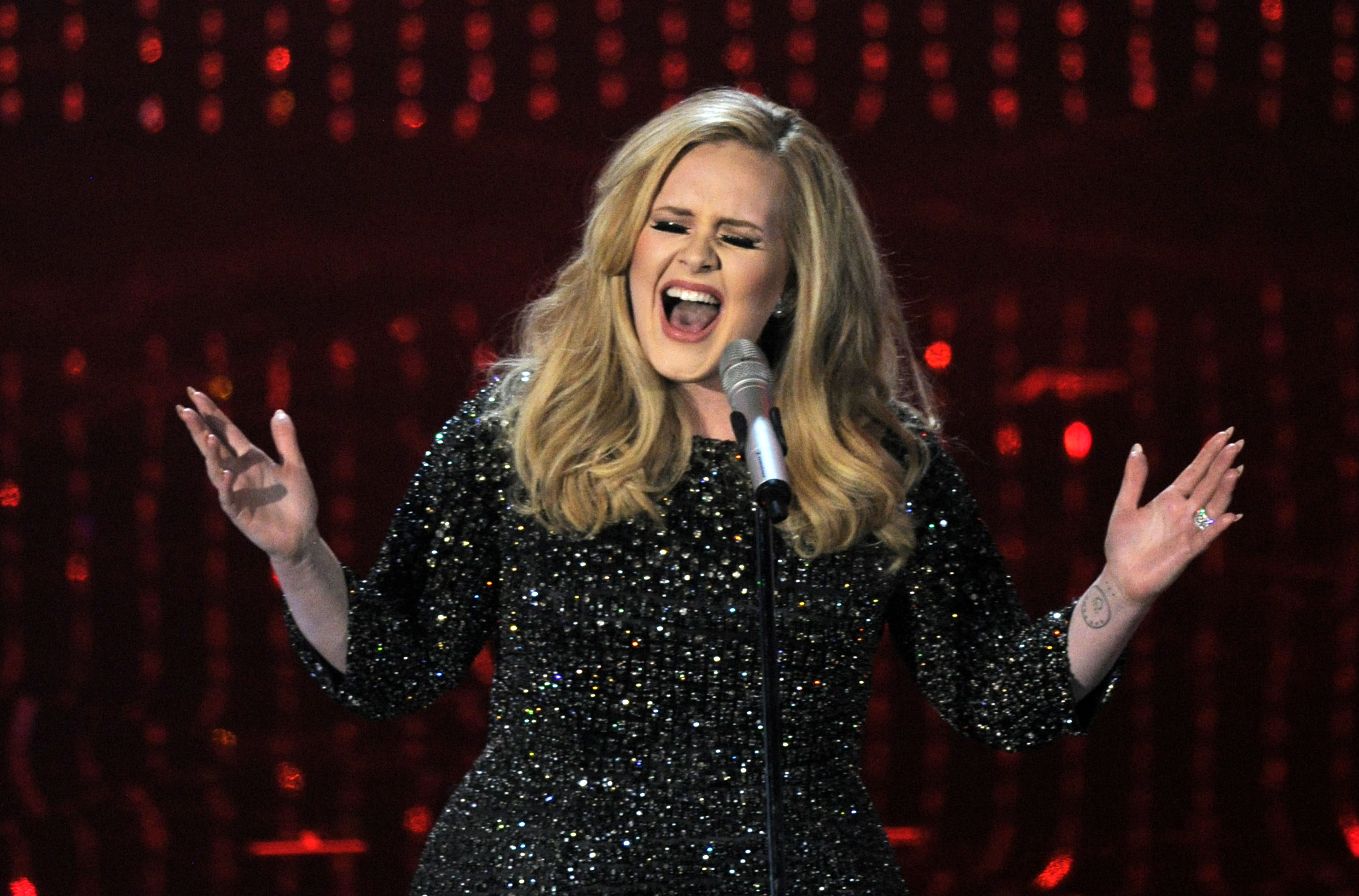 Adele performs during the Oscars at the Dolby Theatre in Los Angeles, in  2013.