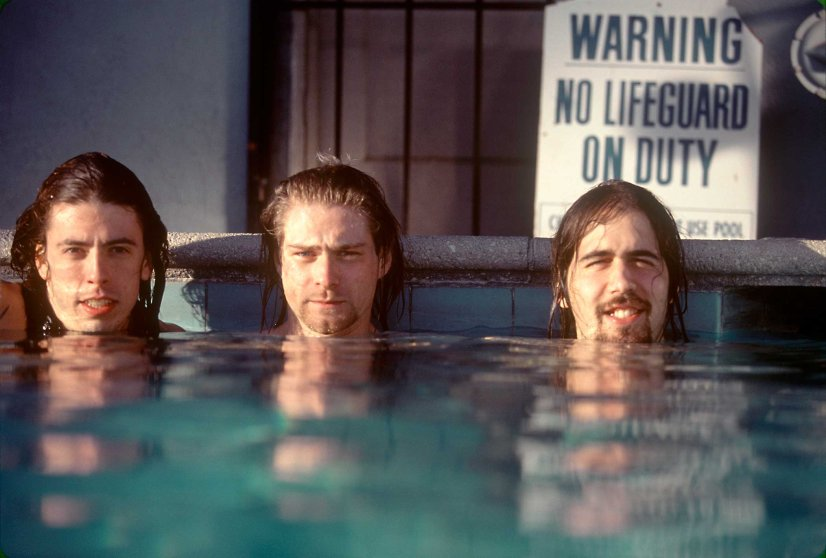 From left: Dave Grohl, Kurt Cobain and Krist Novoselic in 1991.