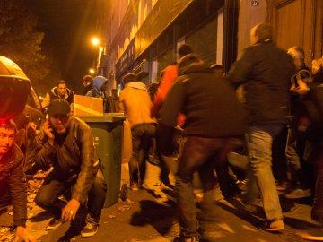 FRANCE. Paris. Terrorist attack. Panic scenes in Quay de Valmy. 2015.