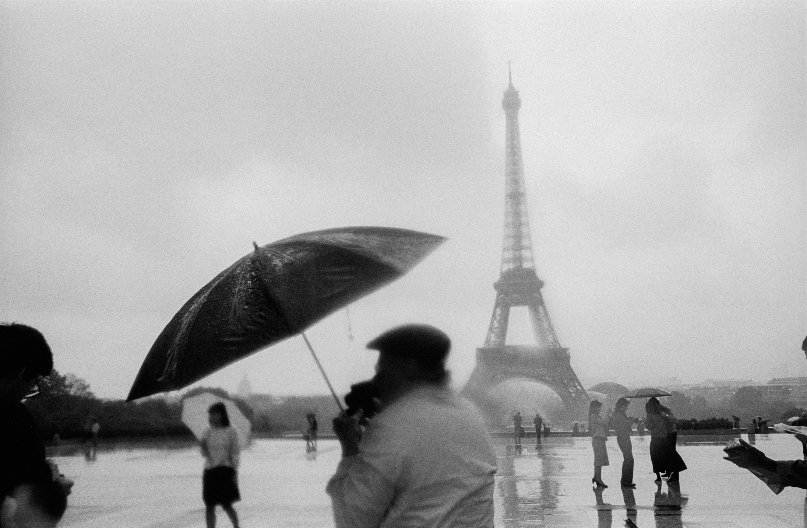 The Eiffel Tower viewed from the Place du Trocadéro in Paris in 1984.
