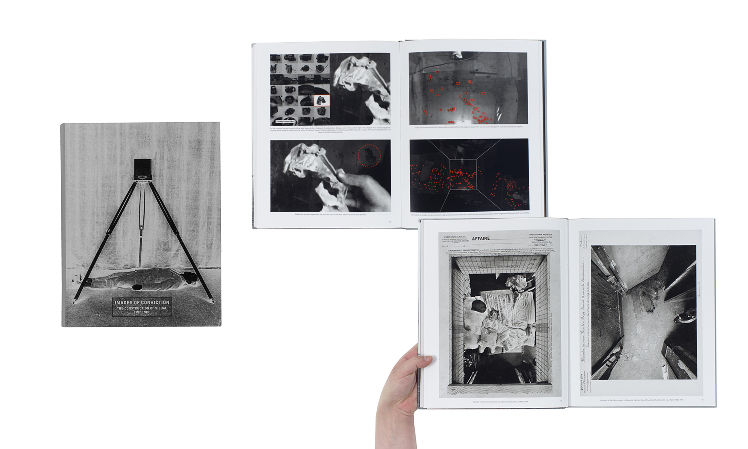 Images of Conviction: The Construction of Visual Evidence by Diane Dufour and Xavier Barral, published by Le Bal/Éditions Xavier Barral. Winner of the Photography Catalogue of the Year category.