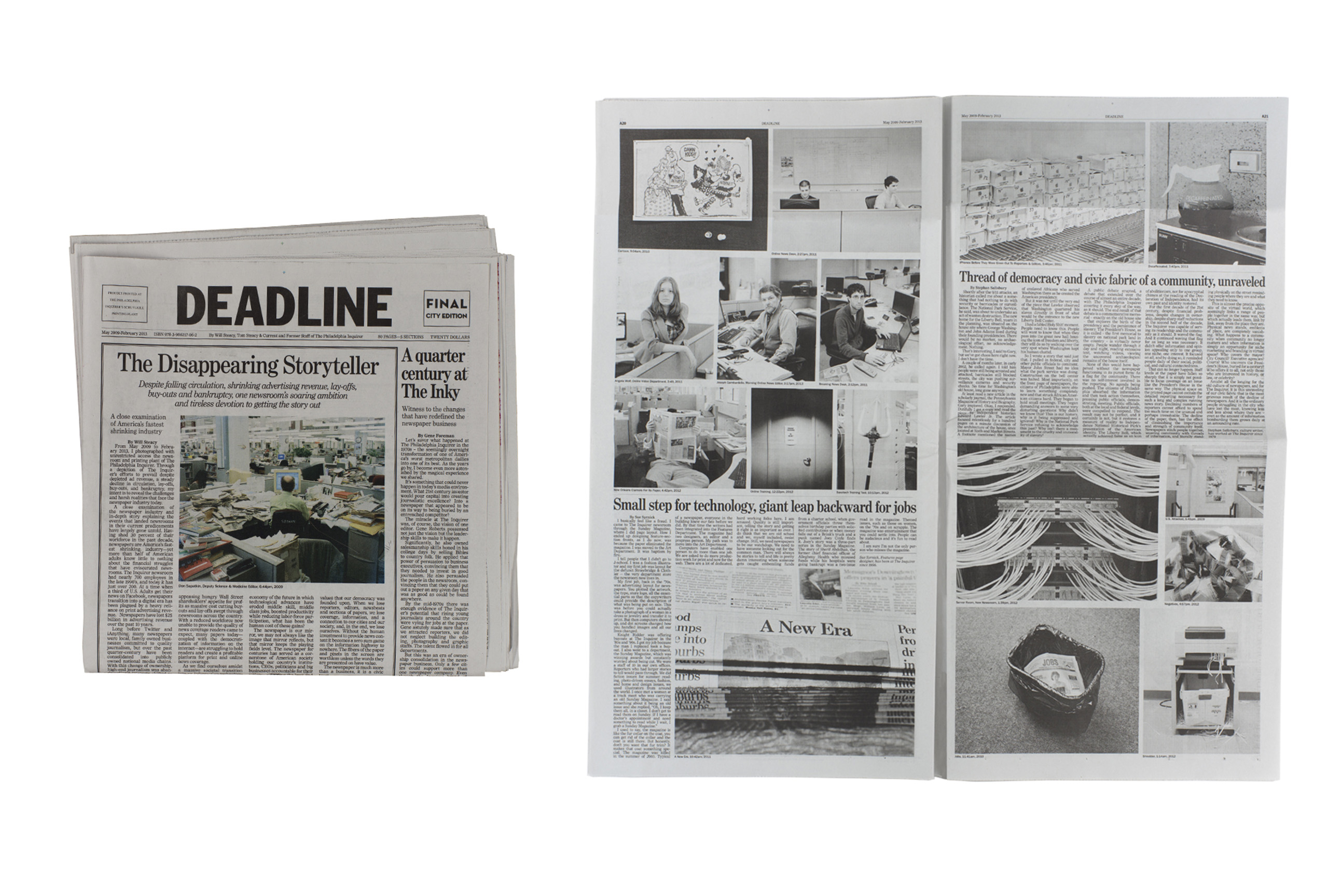 Deadline by Will Steacy, published by b.frank books.  Special Jurors' mention for PhotoBook of the Year.