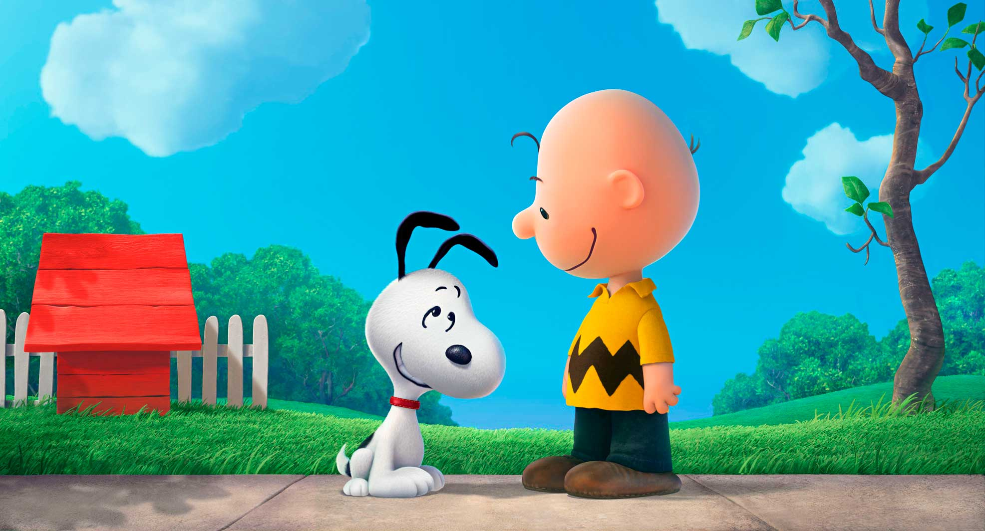 Though now rendered in 3-D, Snoopy and Charlie Brown are familiar as ever