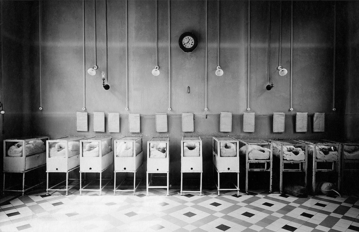 Incubators for premature infants at Bonnaire Hospital in Paris, 1928