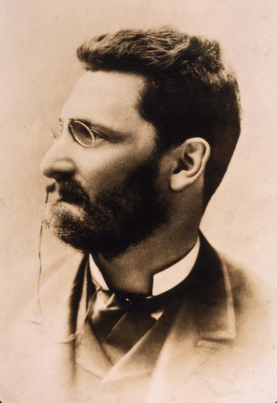 Profile portrait of Hungarian-born journalist Joseph Pulitzer