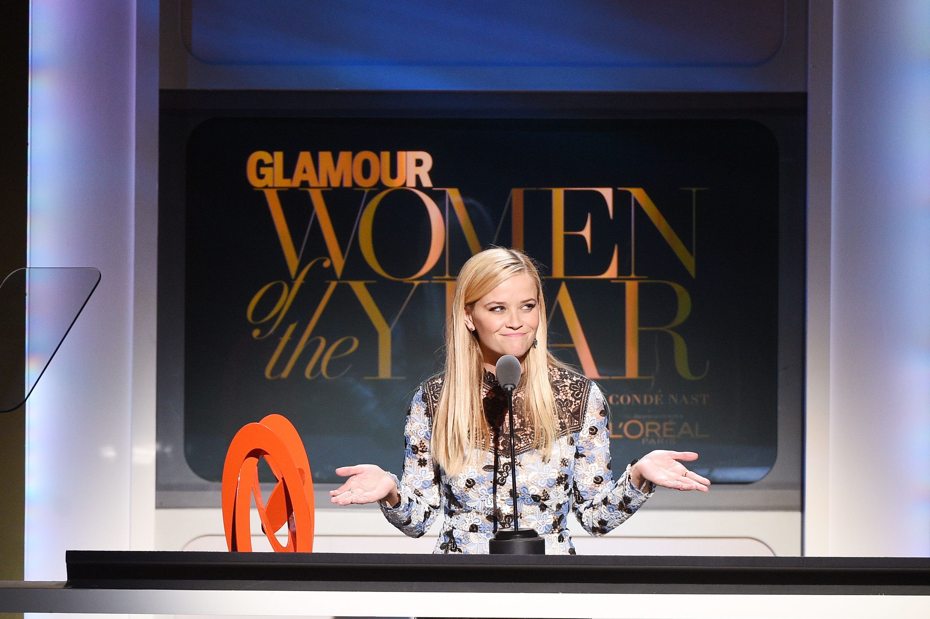Reese Witherspoon speaks at the 2015 Glamour Women of the Year Awards on Nov. 9, 2015 in New York.