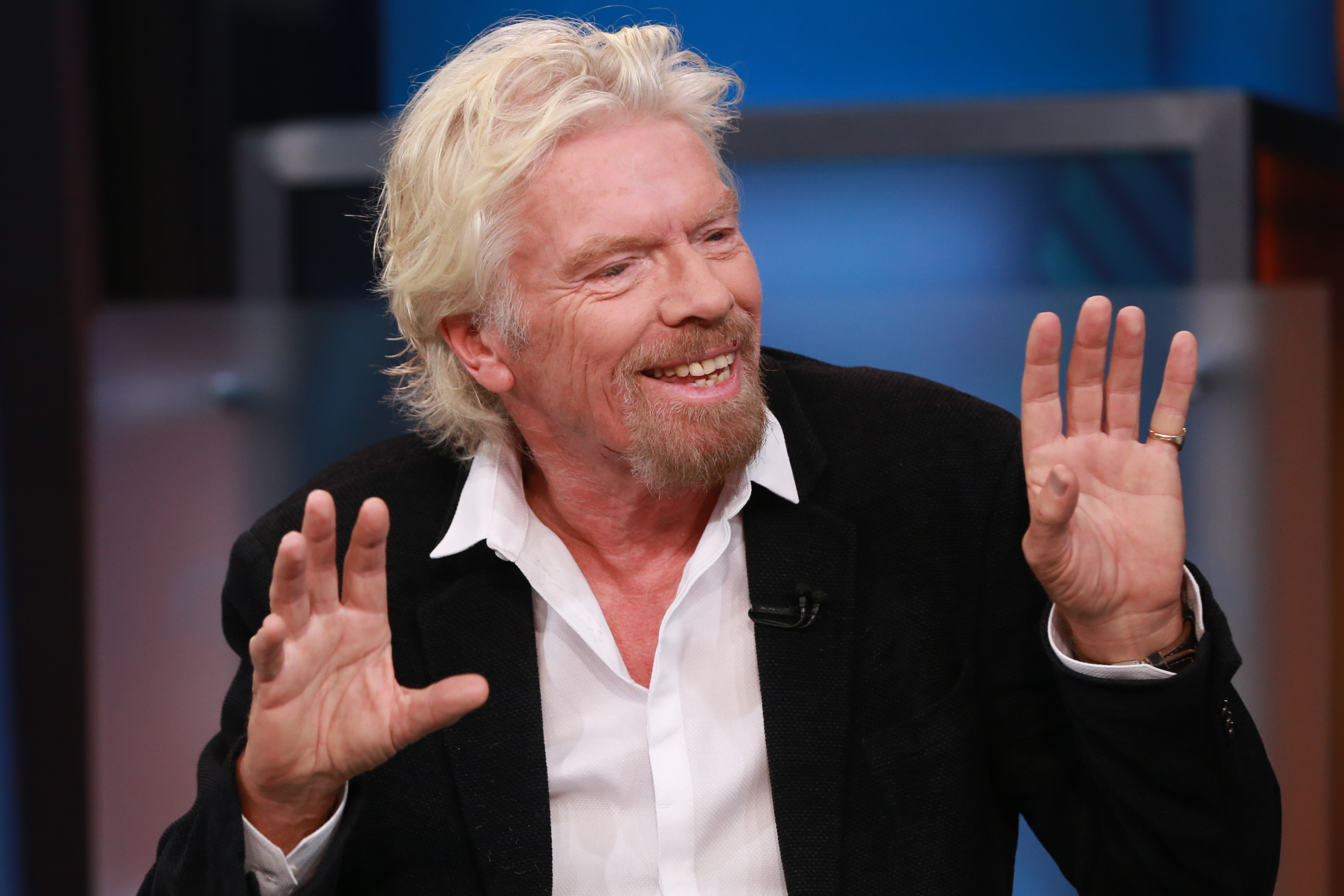 Richard Branson during  Squawk Box  on Sept. 28, 2015.