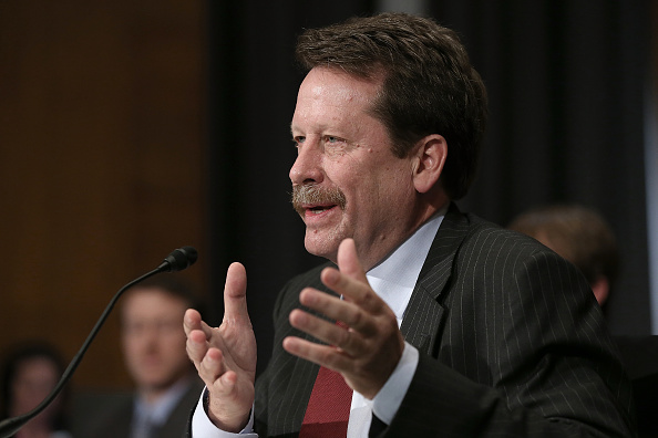 Dr. Robert Califf testifies during his nomination hearing before the Senate Health, Education, Labor and Pensions Committee November 17, 2015 in Washington, DC.