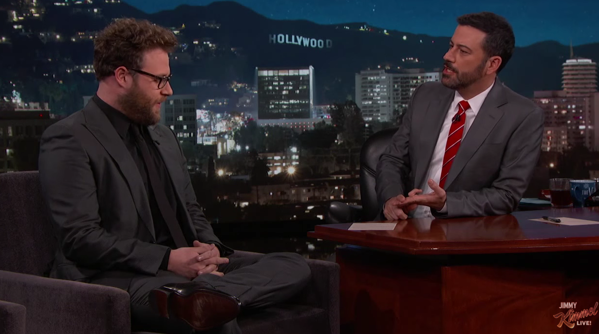 Kimmel pranked by Rogen on his show