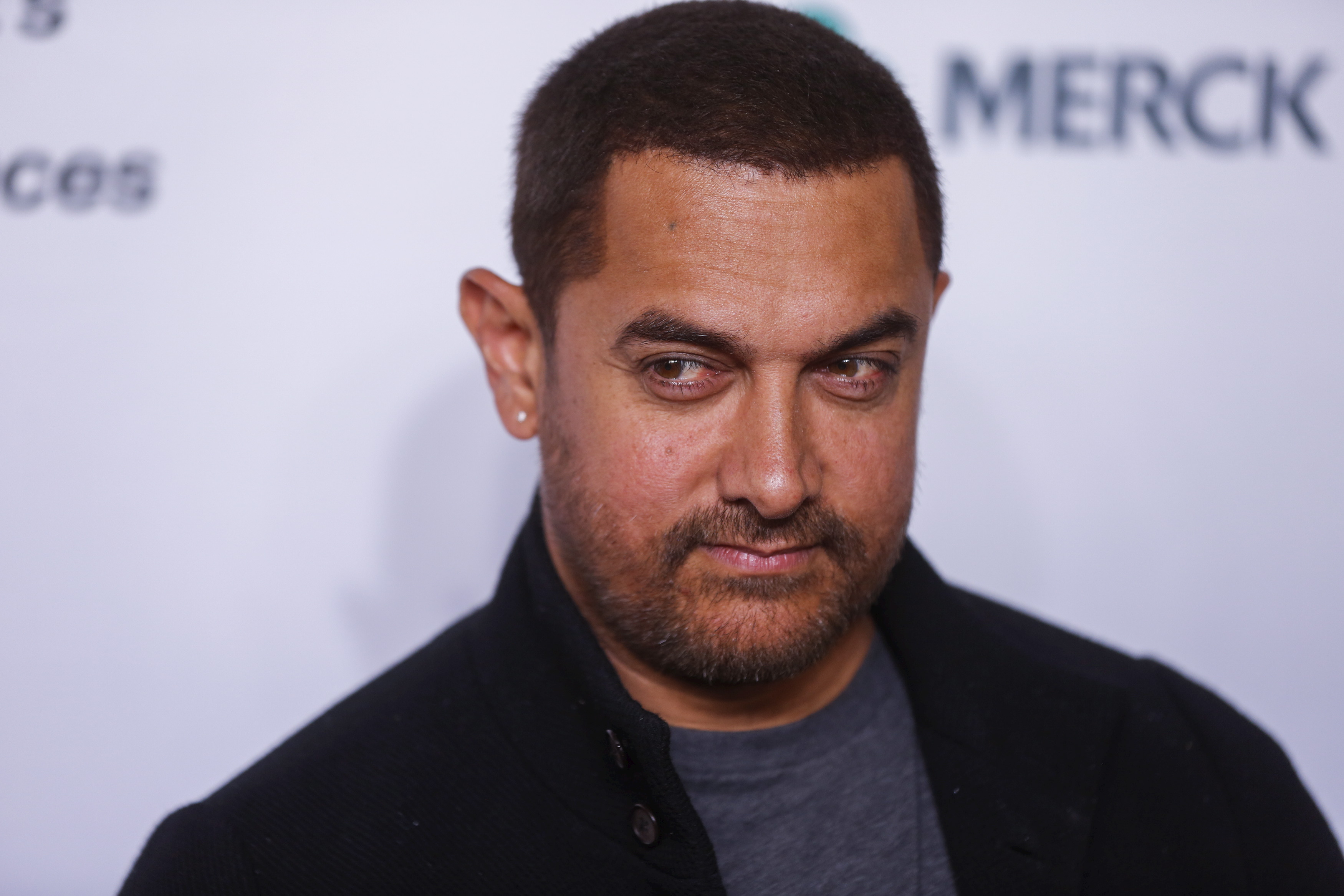 Indian actor Aamir Khan arrives for the opening night of the Women in the World summit in New York City on April 22, 2015