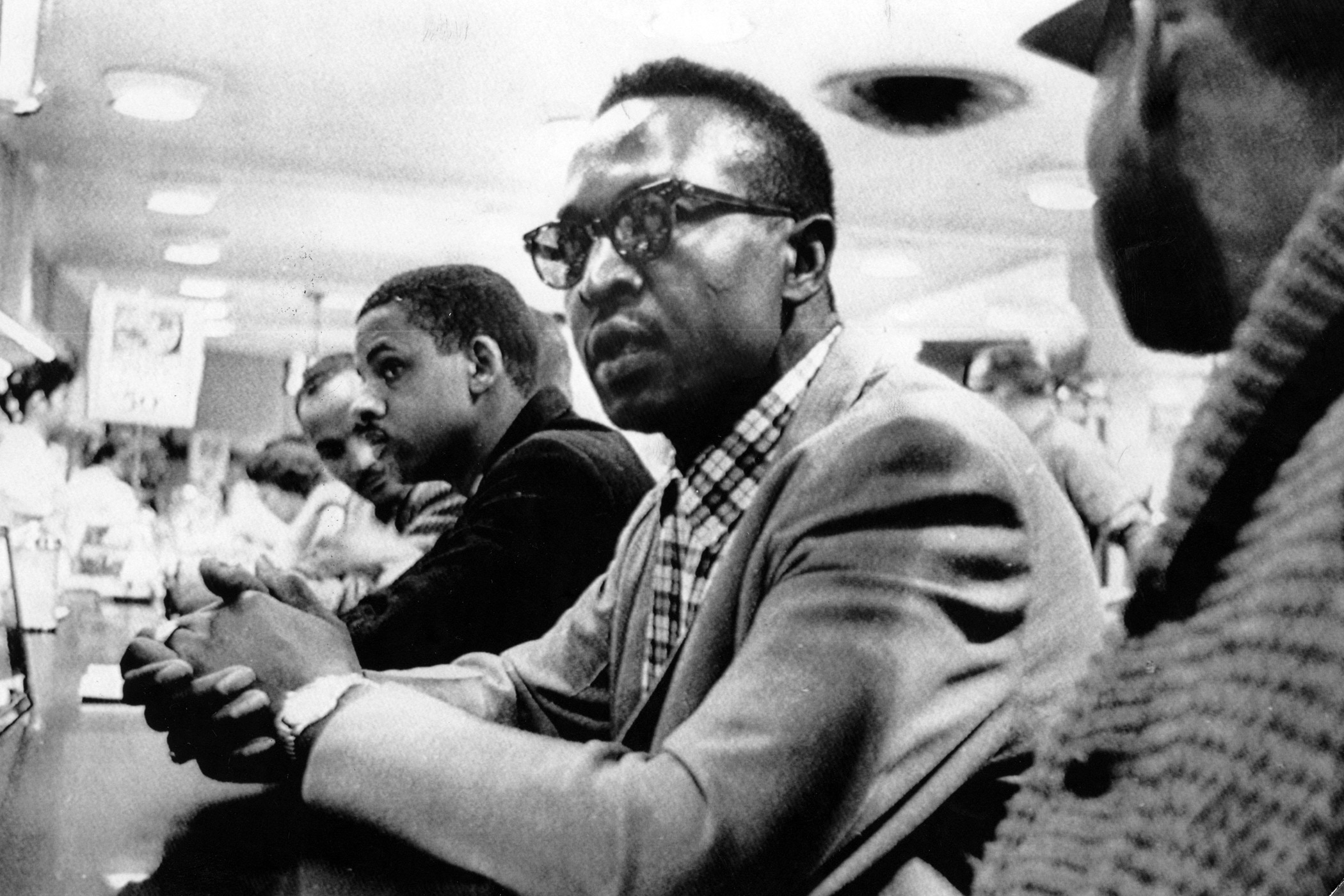 The Greensboro sit-ins, started by four black students from the North Carolina Agricultural and Technical State University, were a peaceful protest of the segregated lunch counter inside the Woolworth store in Greensboro, N.C. in February 1960.  The demonstrations, which spread to nearby cities and states, eventually led to the desegregation of the Greensboro Woolworth store.