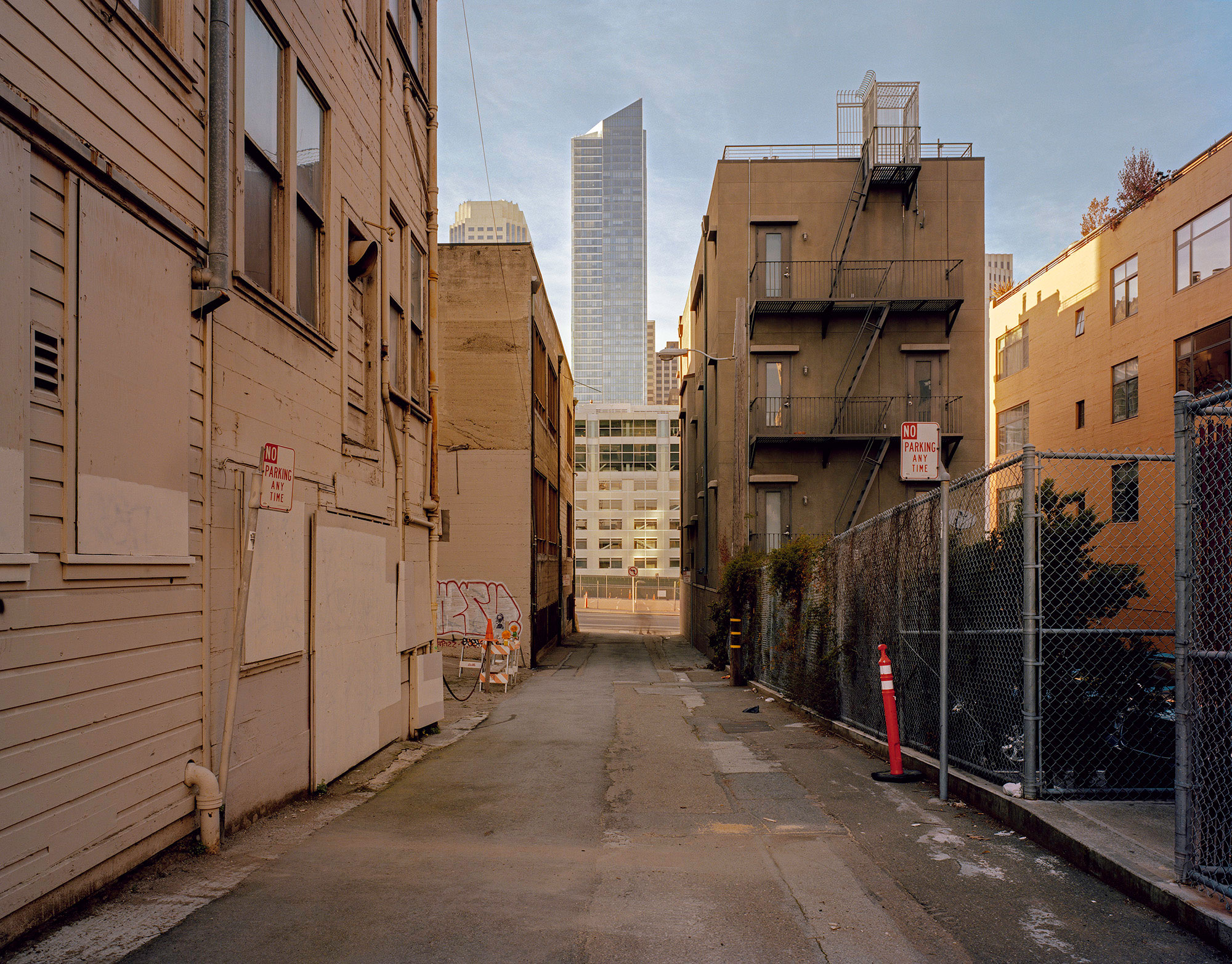 Millenial Tower from Zeno Alley, 2012. From the series  SoMa Now.