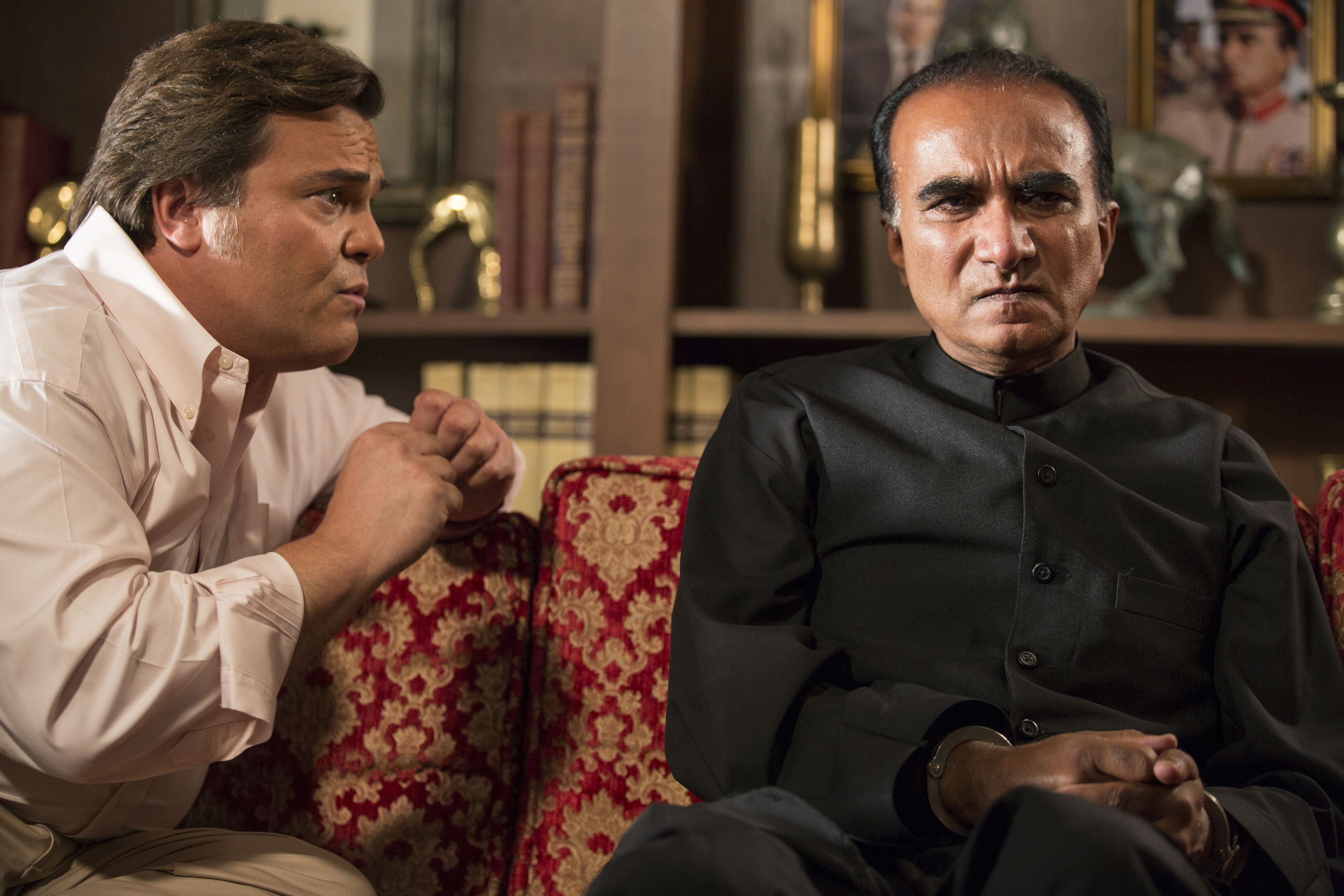 Jack Black and Iqbal Theba in the season finale of The Brink.