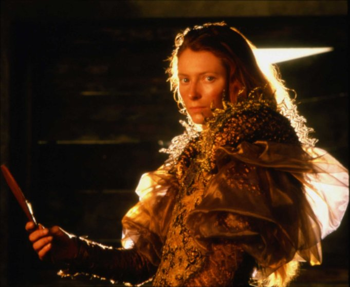 Tilda Swinton is seen as Lena in Caravaggio in 1986.