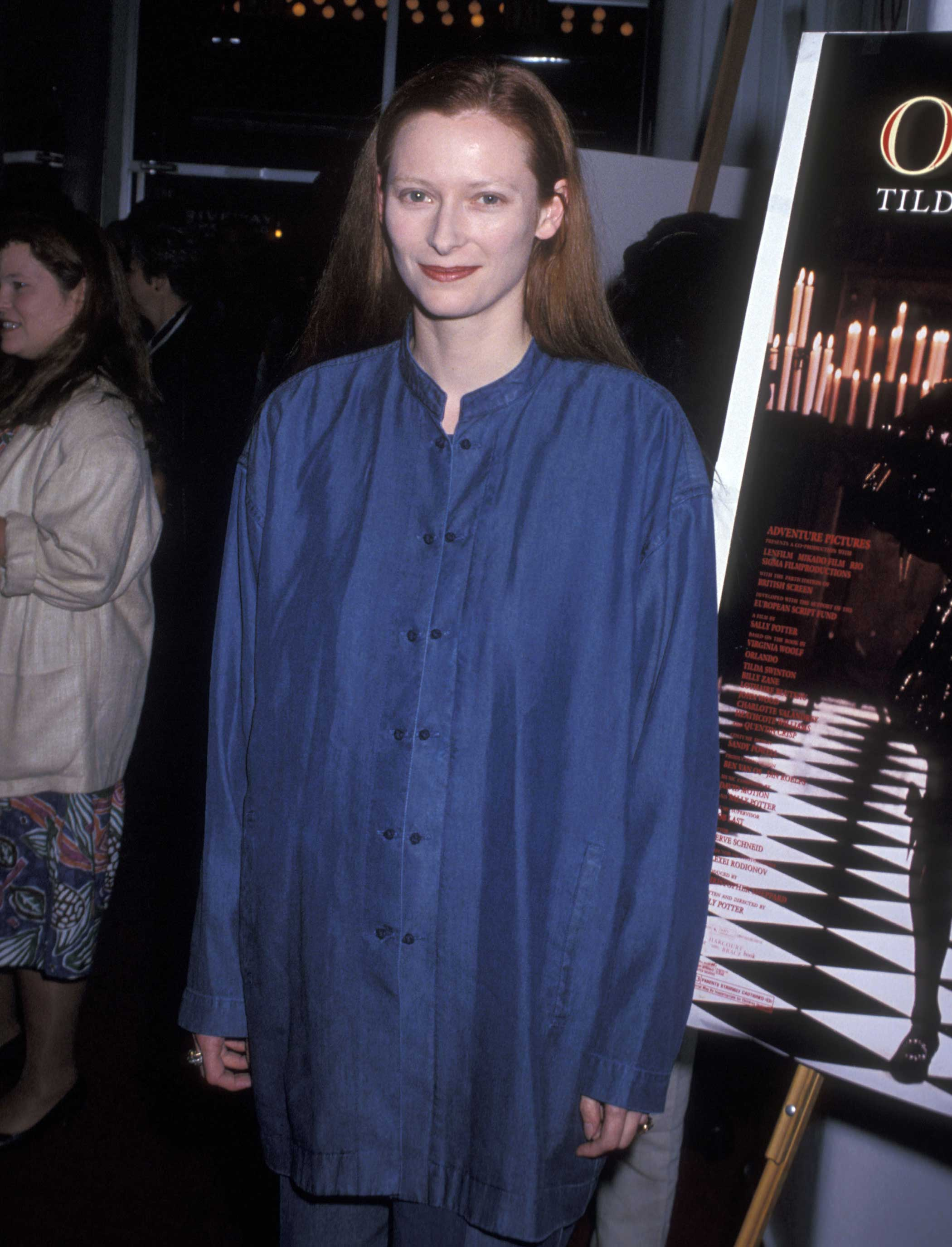 Tilda Swinton attends the Orlando New York City Premiere on June 2, 1993 in New York City.