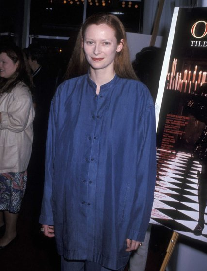 Tilda Swinton attends the Orlando New York City Premiere on June 2, 1993 in New York City.