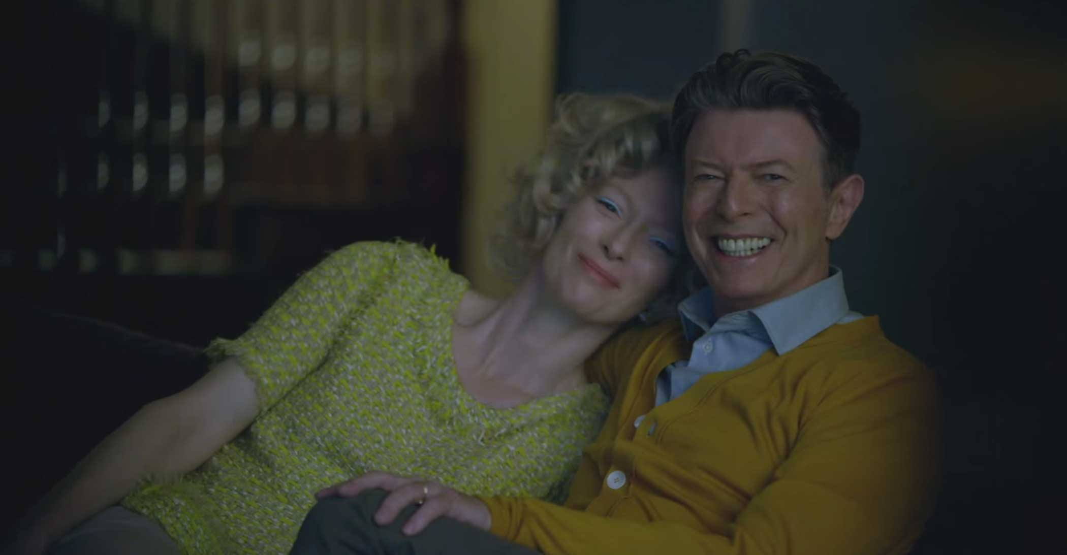 Tilda Swinton and David Bowie in a still from Bowie's video for  The Stars (Are Out Tonight)  in 2013.