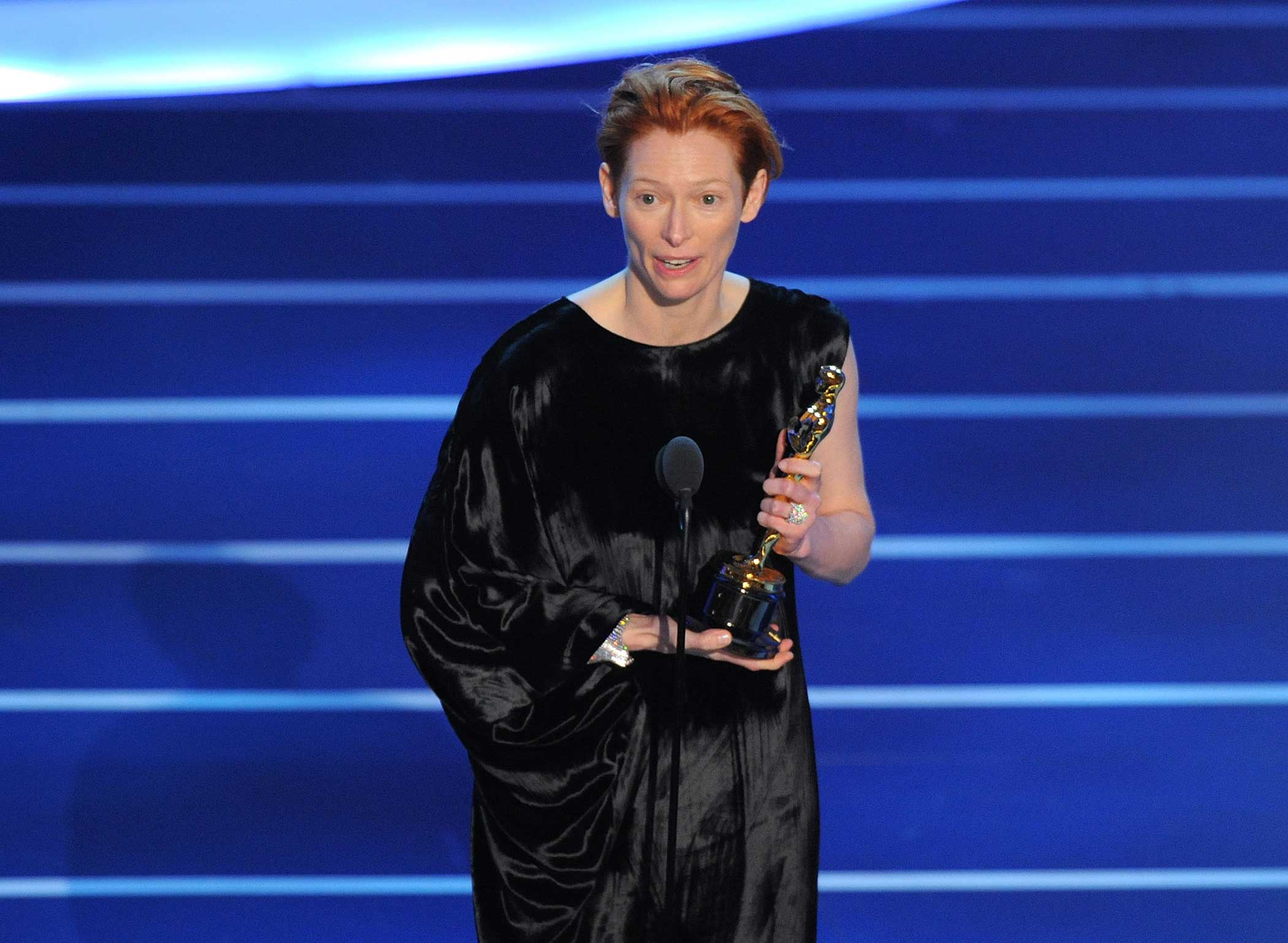 Tilda Swinton onstage during the 80th Annual Academy Awards on Feb. 24, 2008 in Los Angeles.