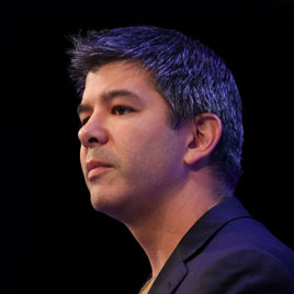 Travis Kalanick, chief executive officer of Uber Technologies Inc., pauses as he addresses the Institute of Directors (IOD) annual convention at the Royal Albert Hall in London, Oct. 3, 2014
